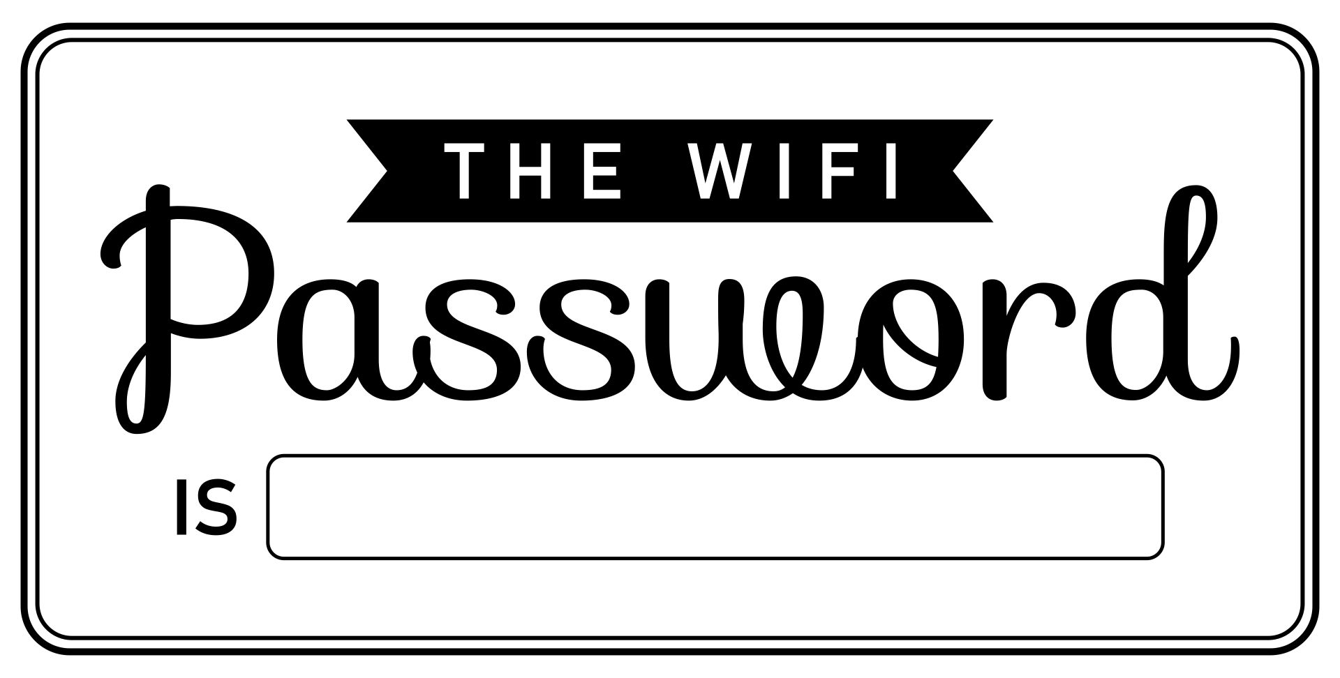 Guest Wifi Password Printable