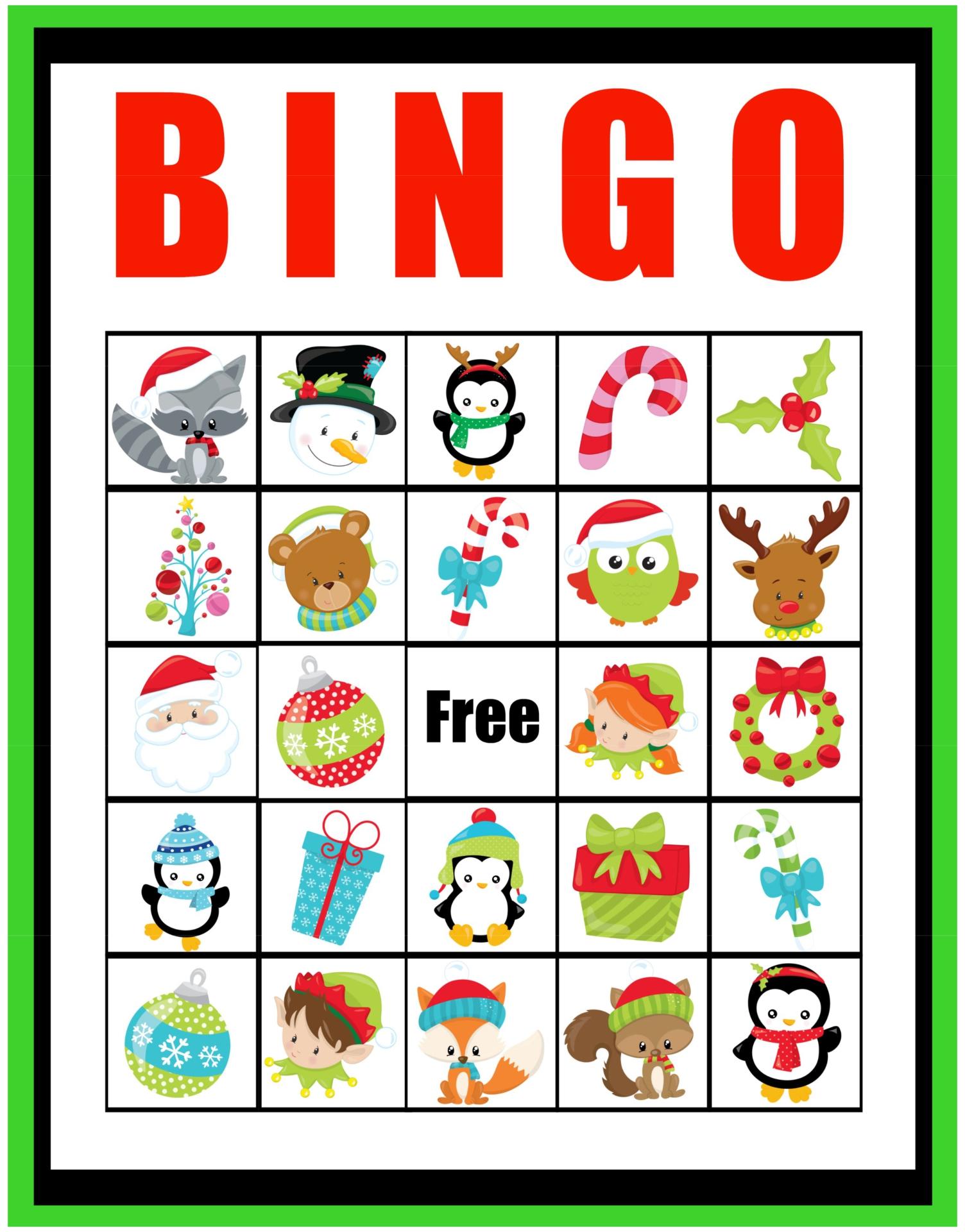 Printable Christmas Bingo Templates