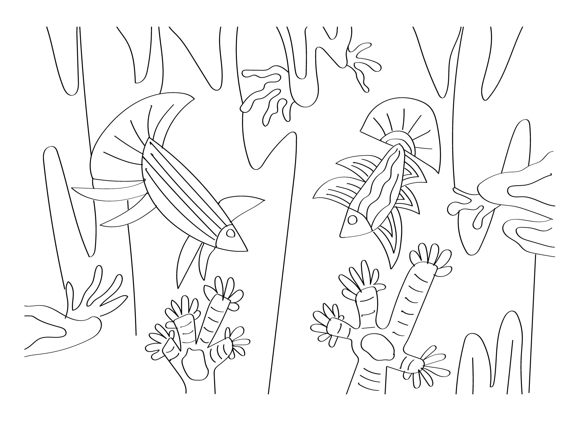 Printable Coloring Pages Doodle Art