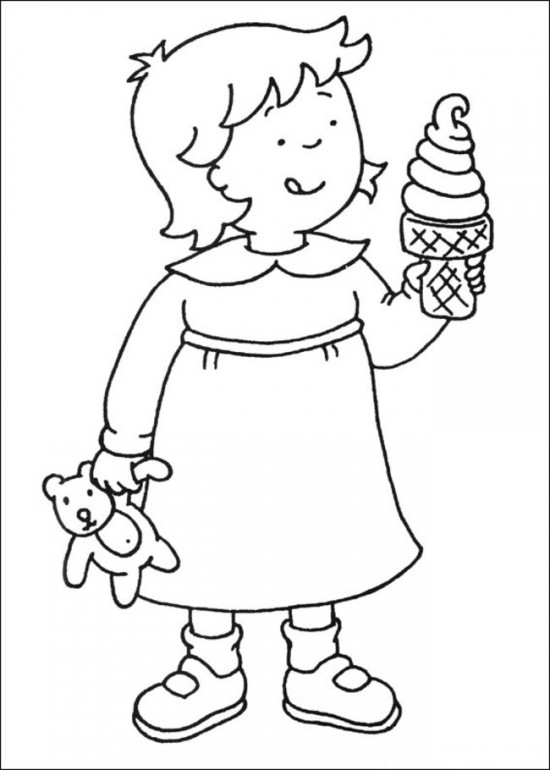 Caillou Christmas Coloring Printable