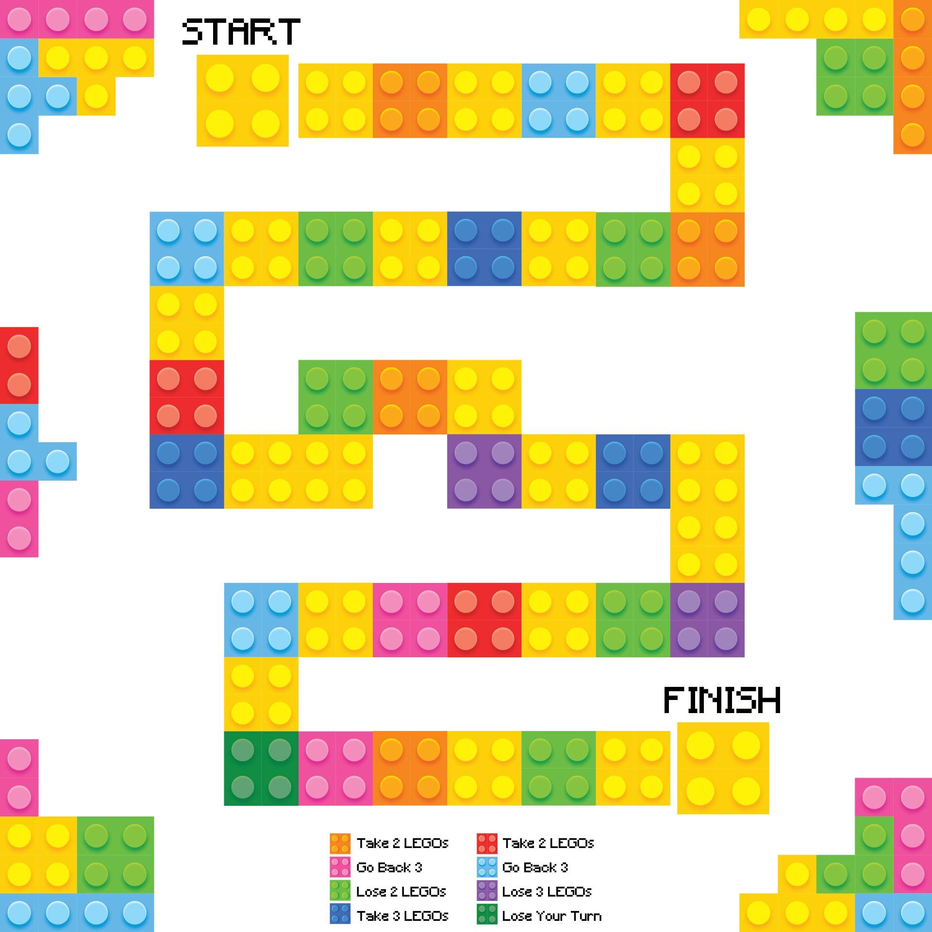 Printable LEGO Board Game