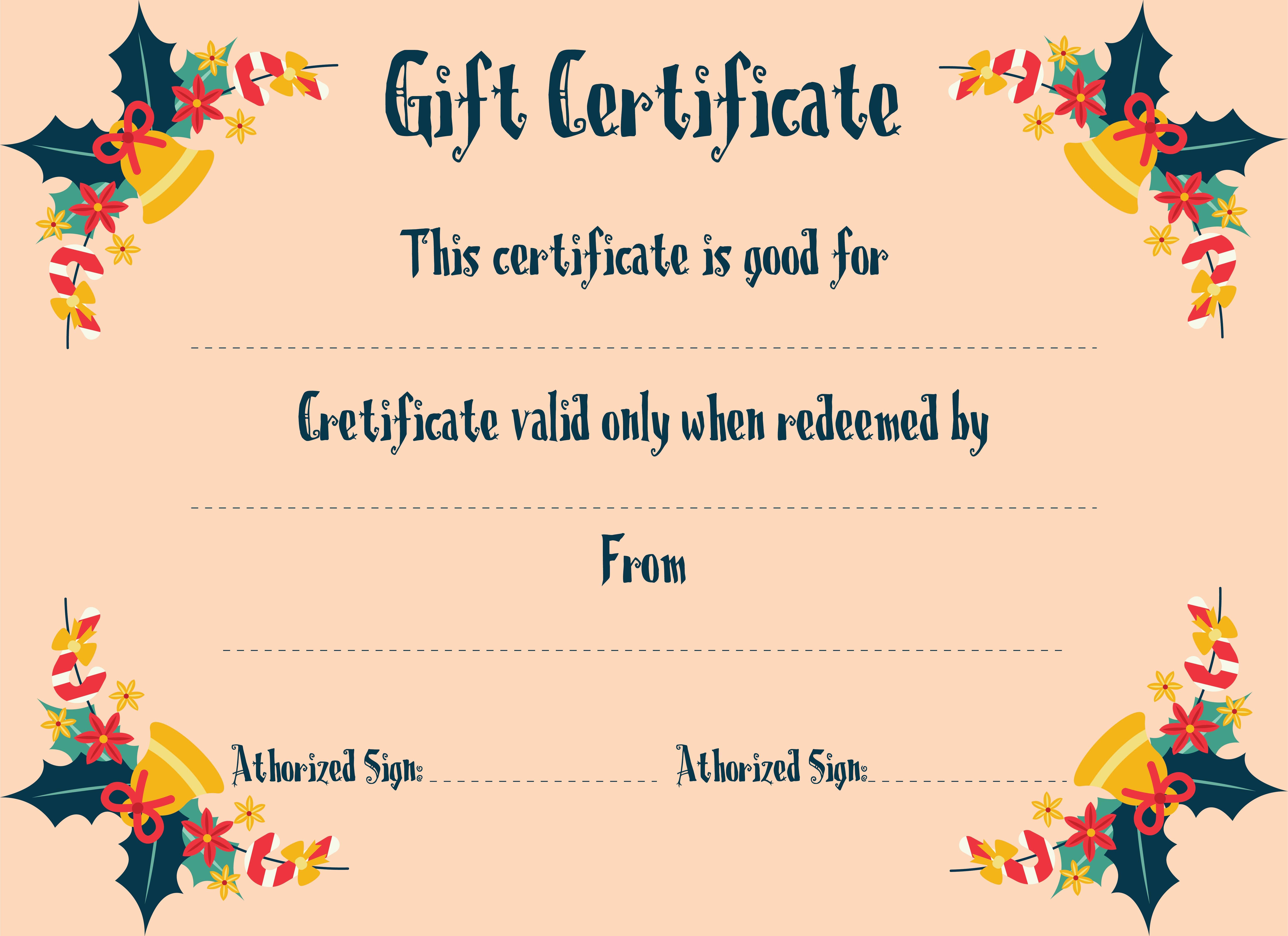 Printable Christmas Gift Certificate Templates