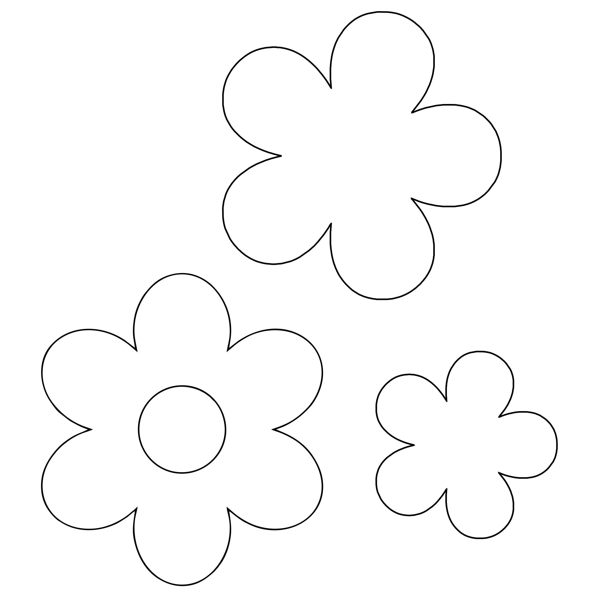 Large Flower Stencils Printable