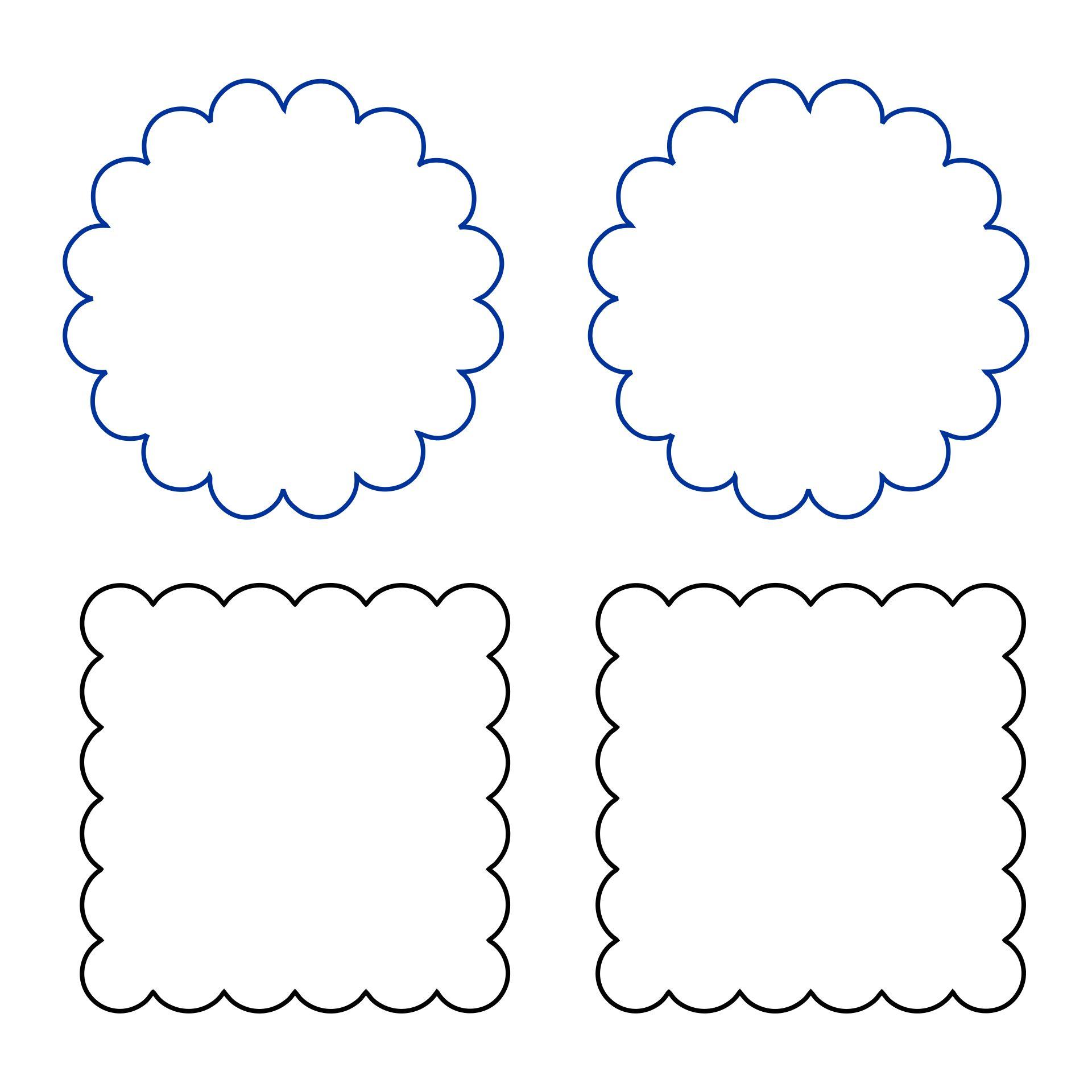 Printable Scallop Template