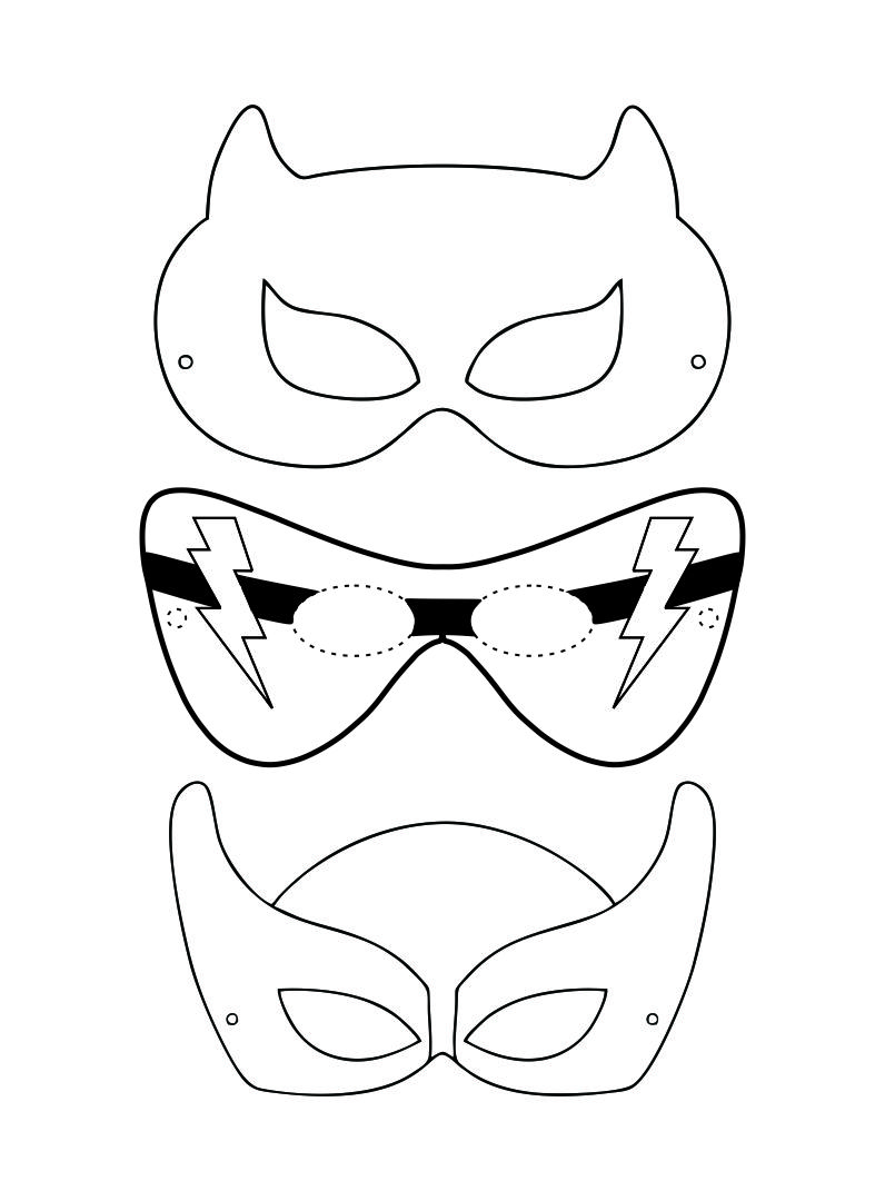 Printable Superhero Mask Cutouts