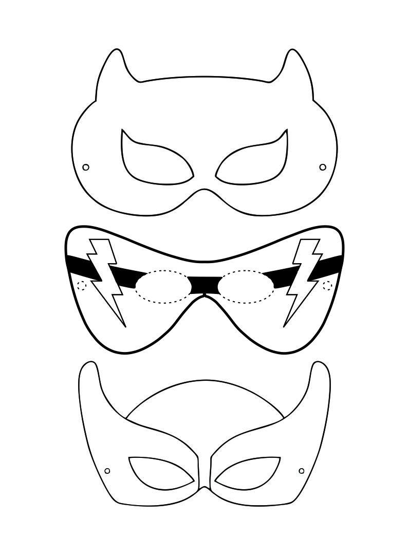 Printable Superhero Mask Cutouts