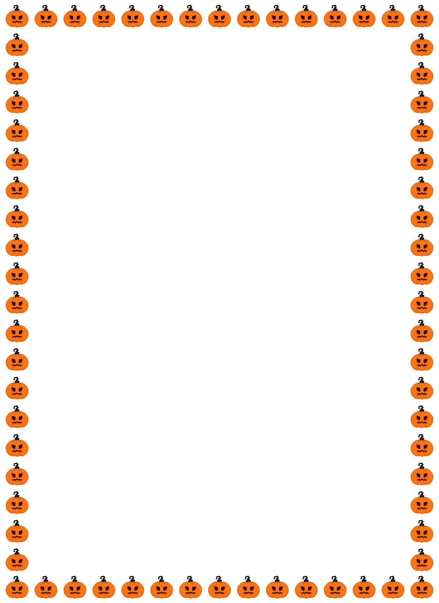 Printable Halloween Border Paper