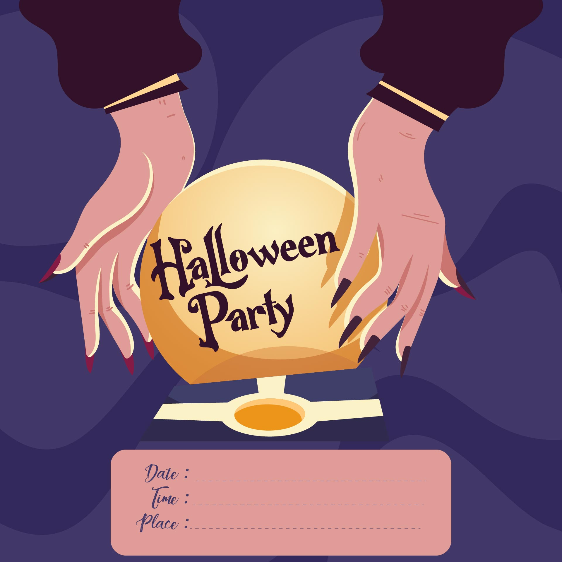 Halloween Birthday Party Printable Invitation Templates