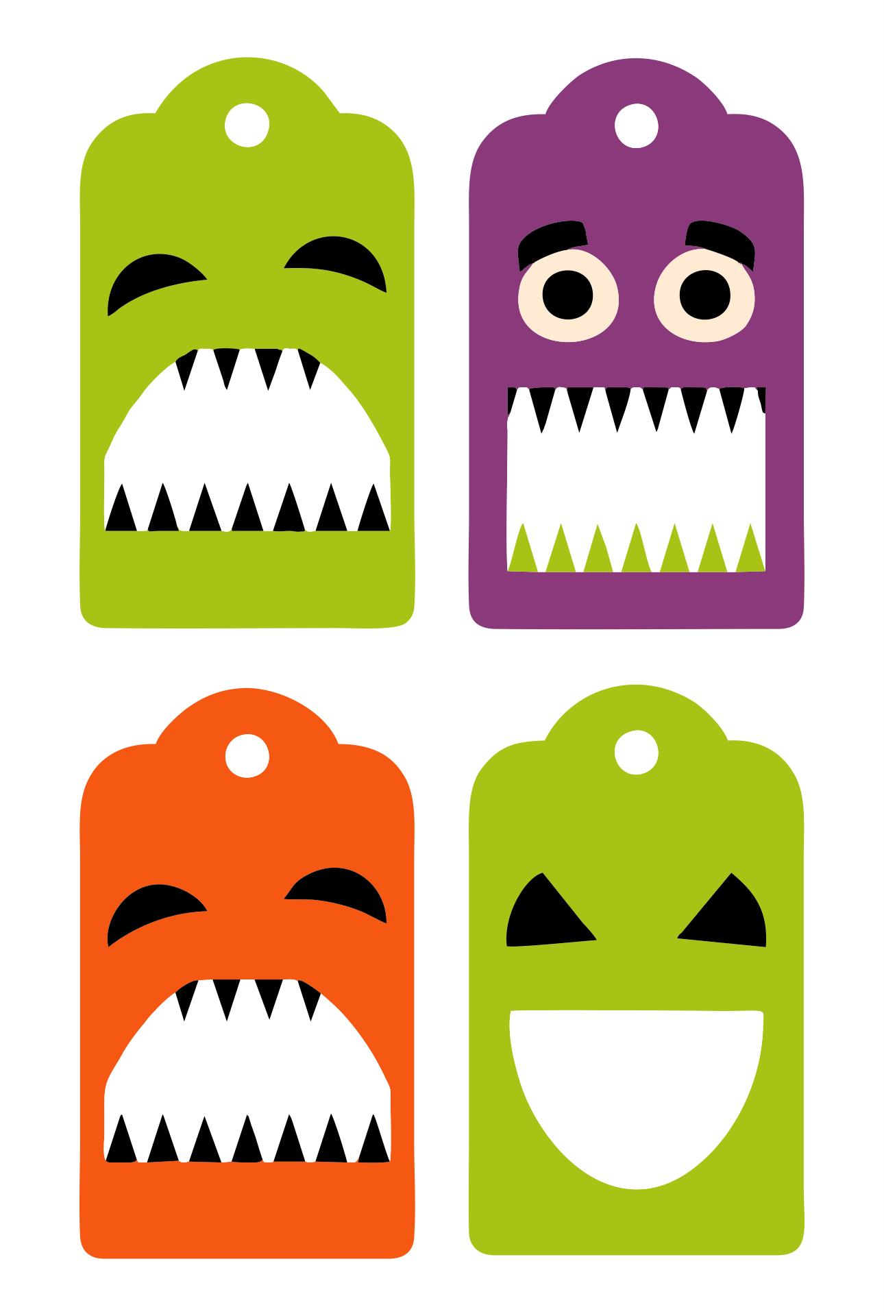 Halloween Tags Printable Templates