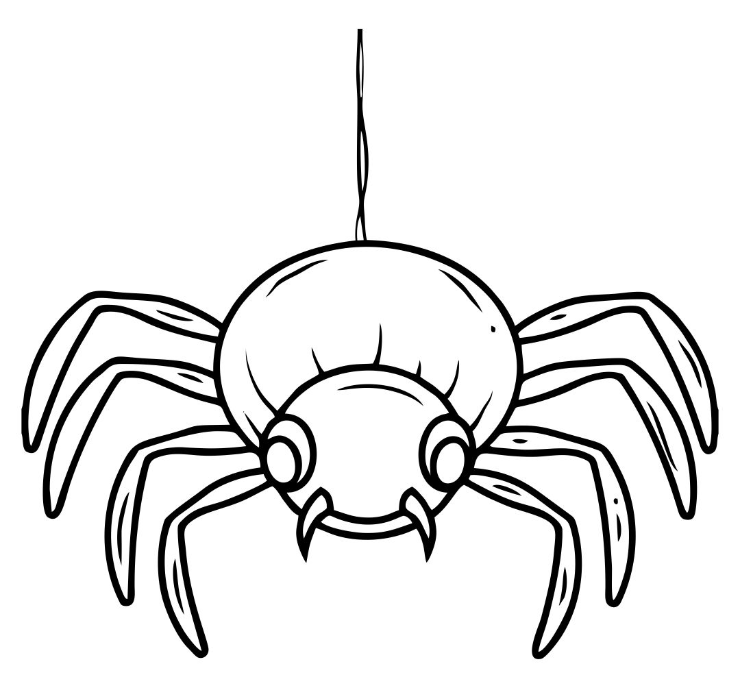 Halloween Printable Spider Coloring Pages