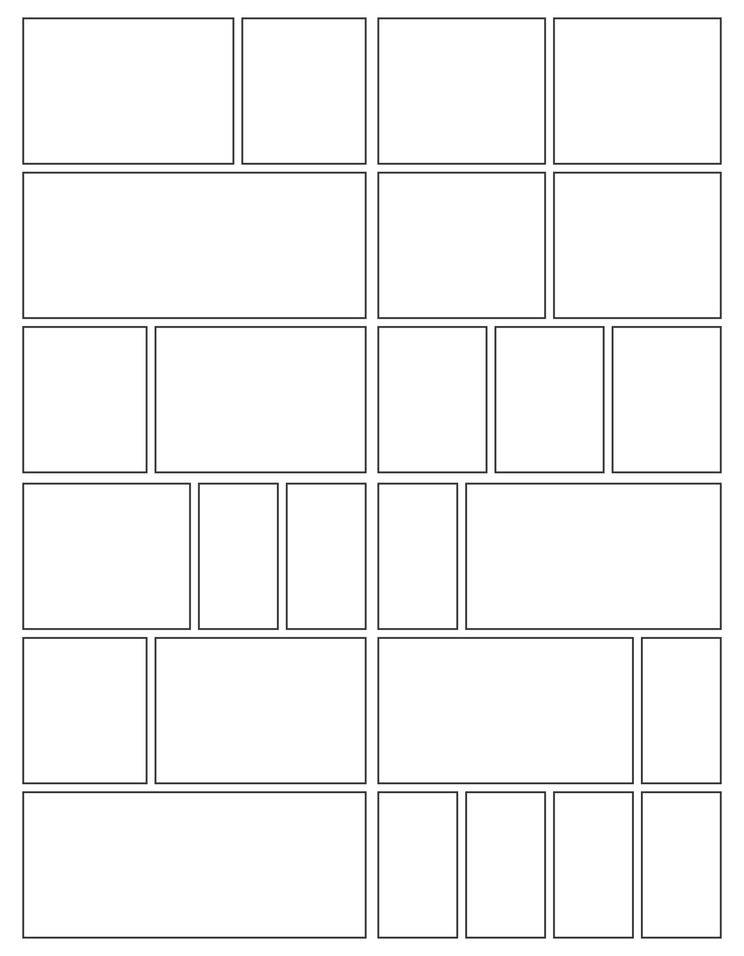 Comic Book Panels Printable