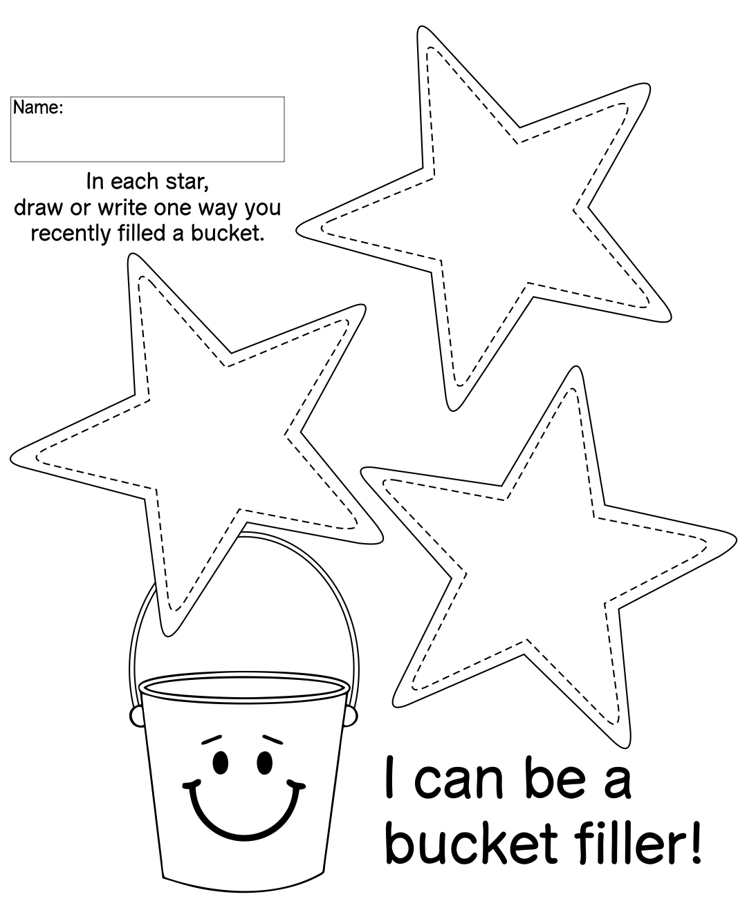 Bucket Filler Printable Worksheets