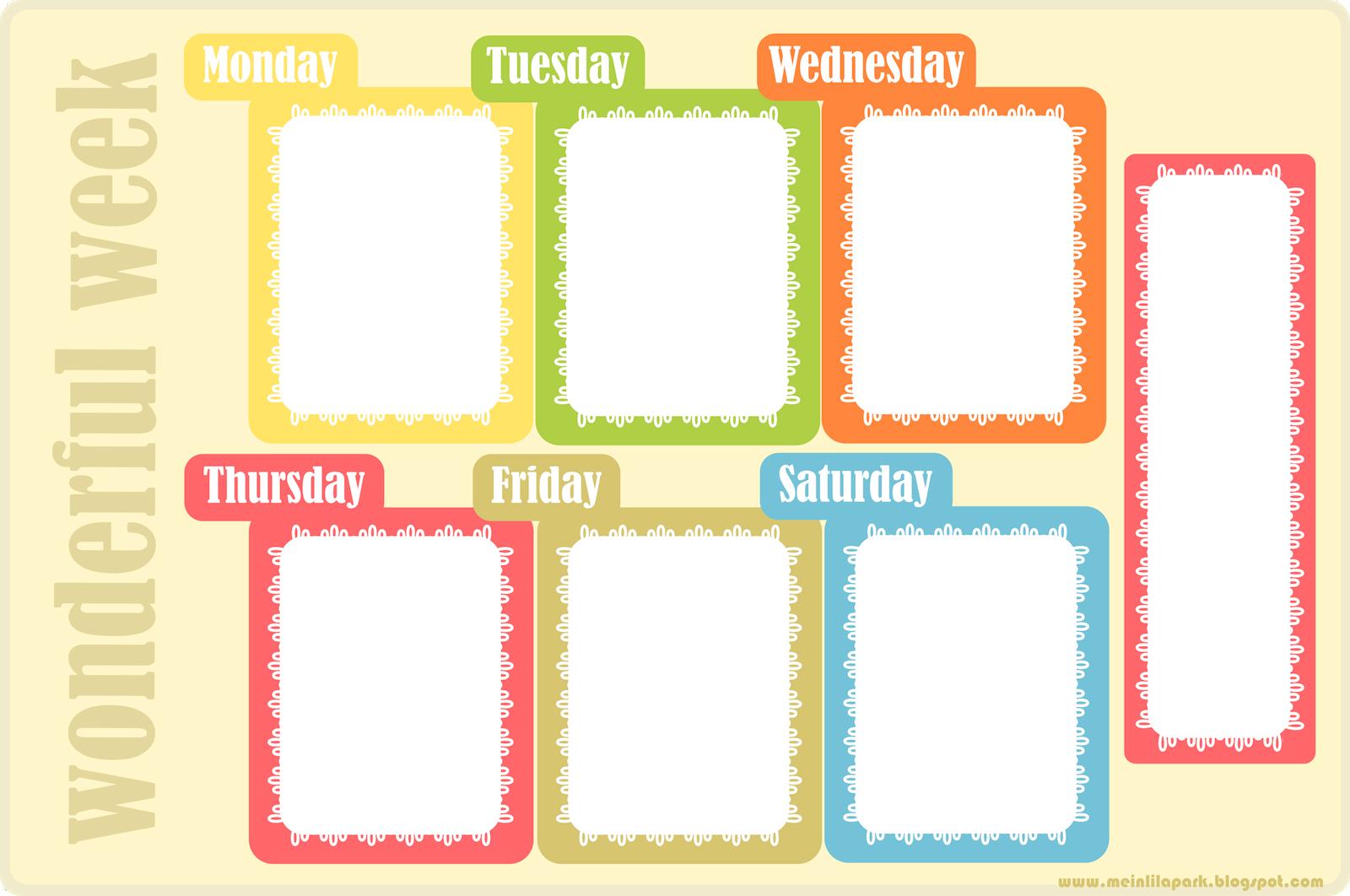 Weekly Planner Templates  classtemplatescom