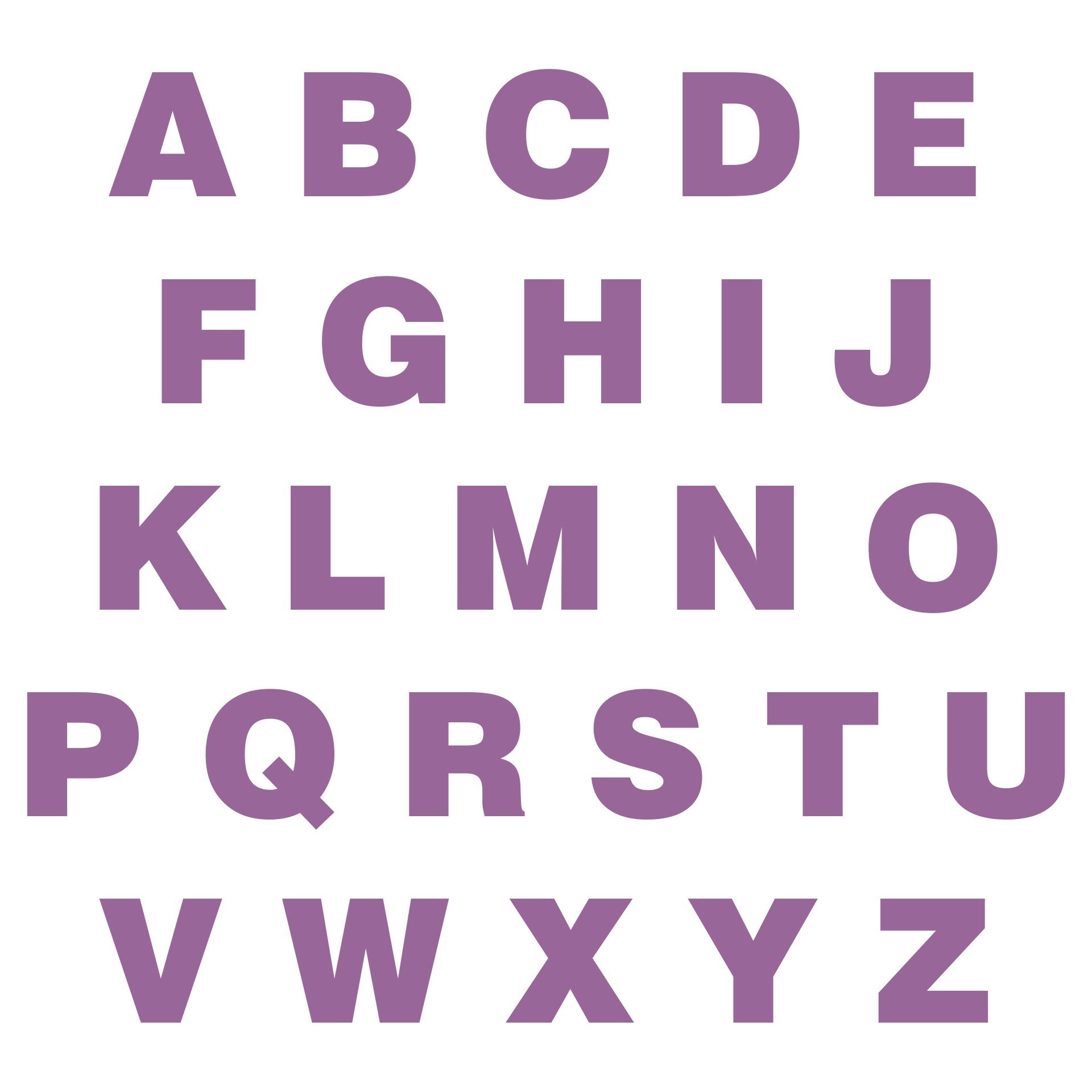Full Size Printable Letters