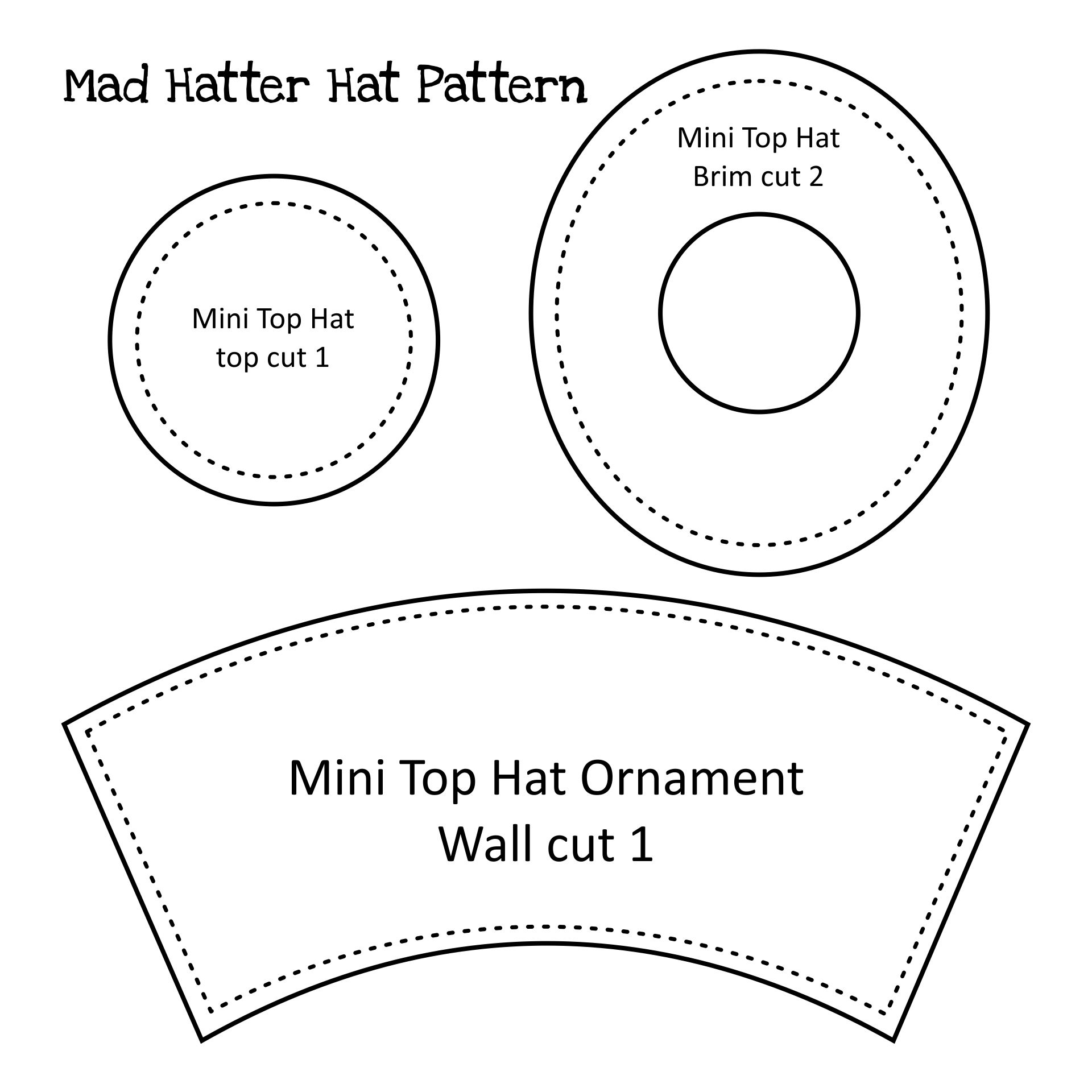Printable Top Hat Pattern