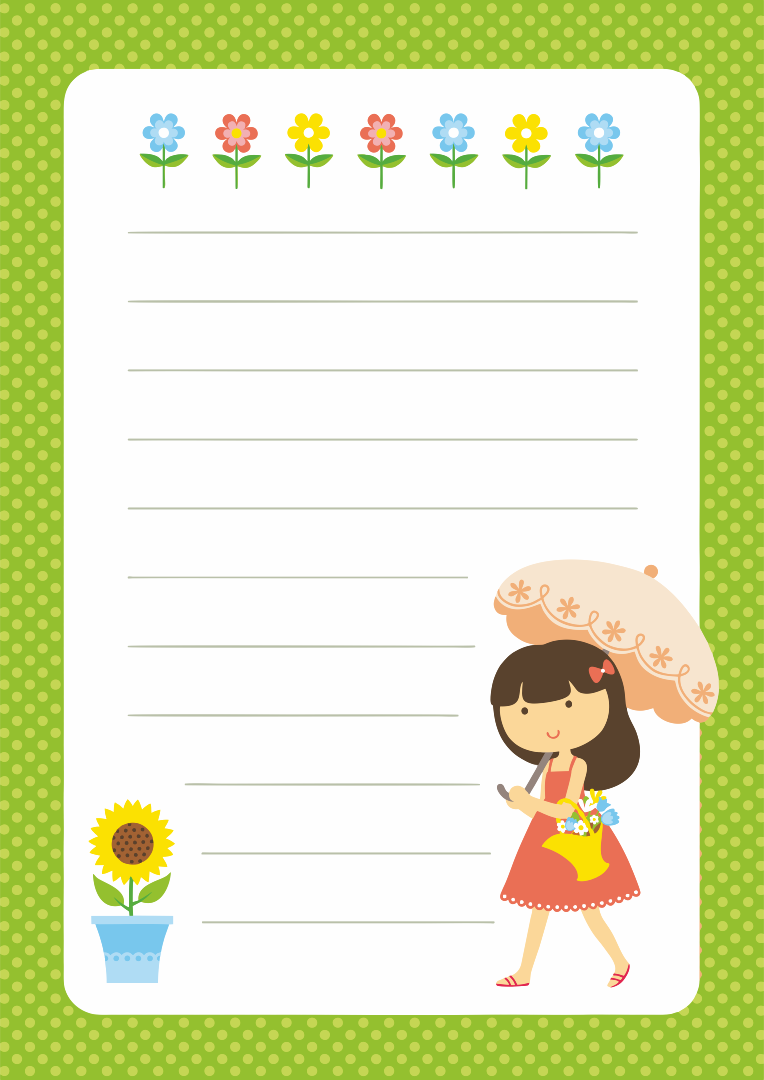 Printable Letter Writing Paper For Kids