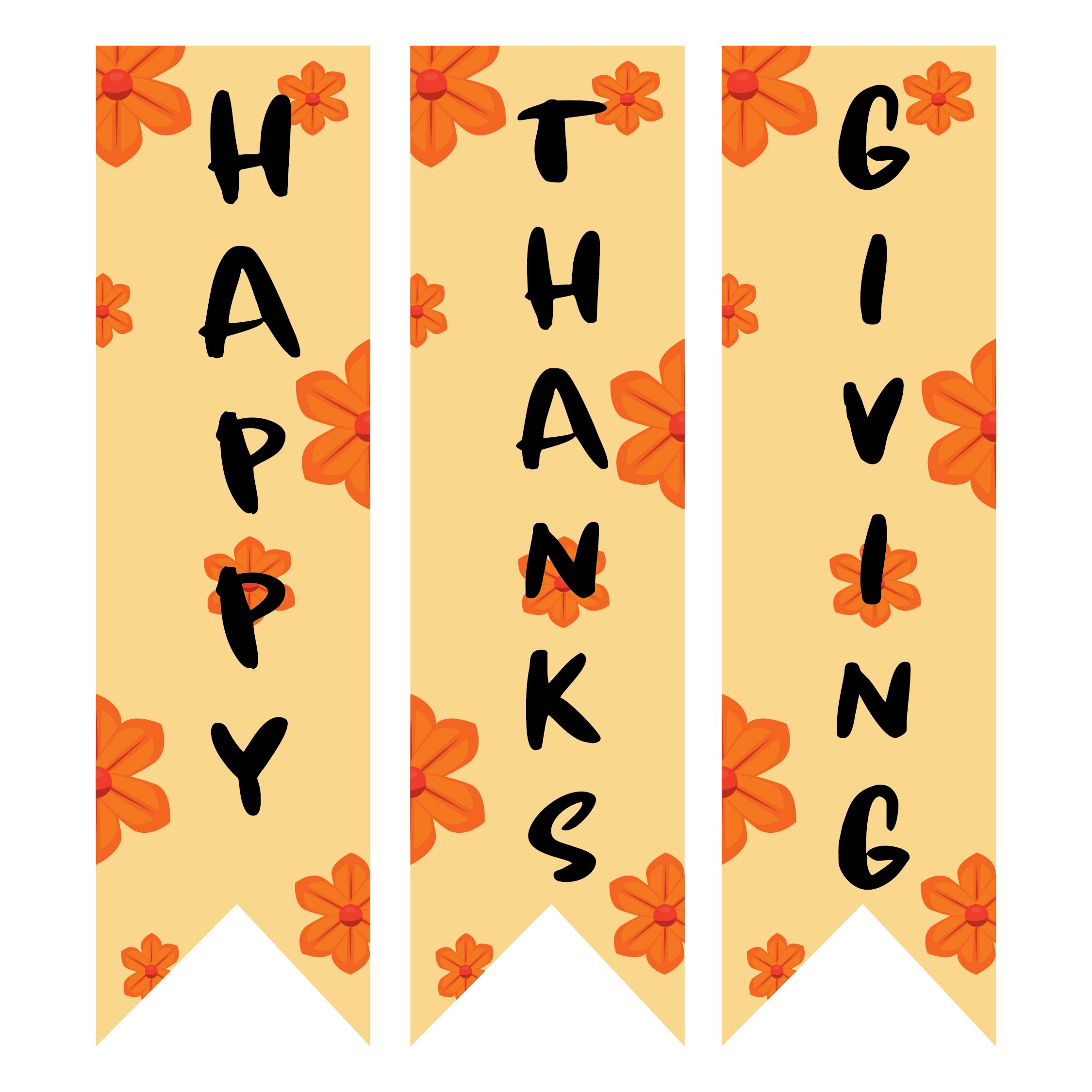 Thanksgiving Holiday Printable Banners