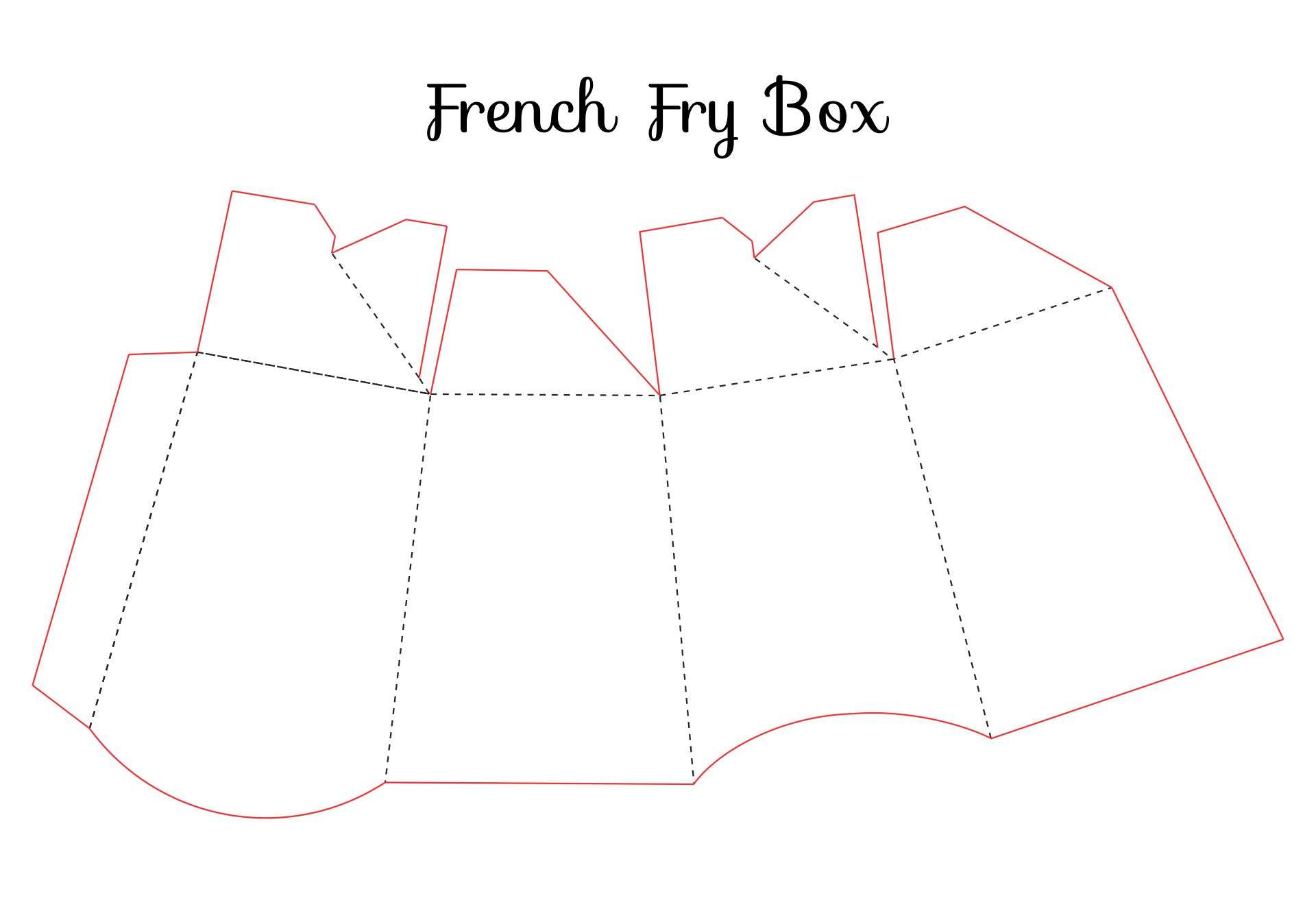 French Fry Box Template Printable