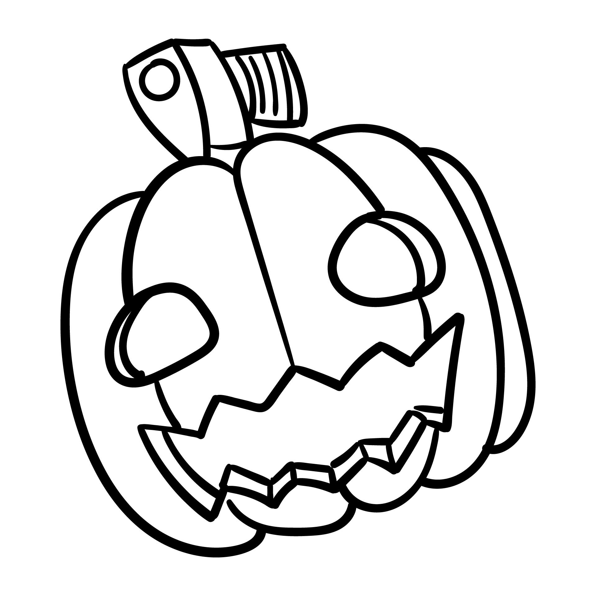 Halloween Coloring Pumpkin Printable