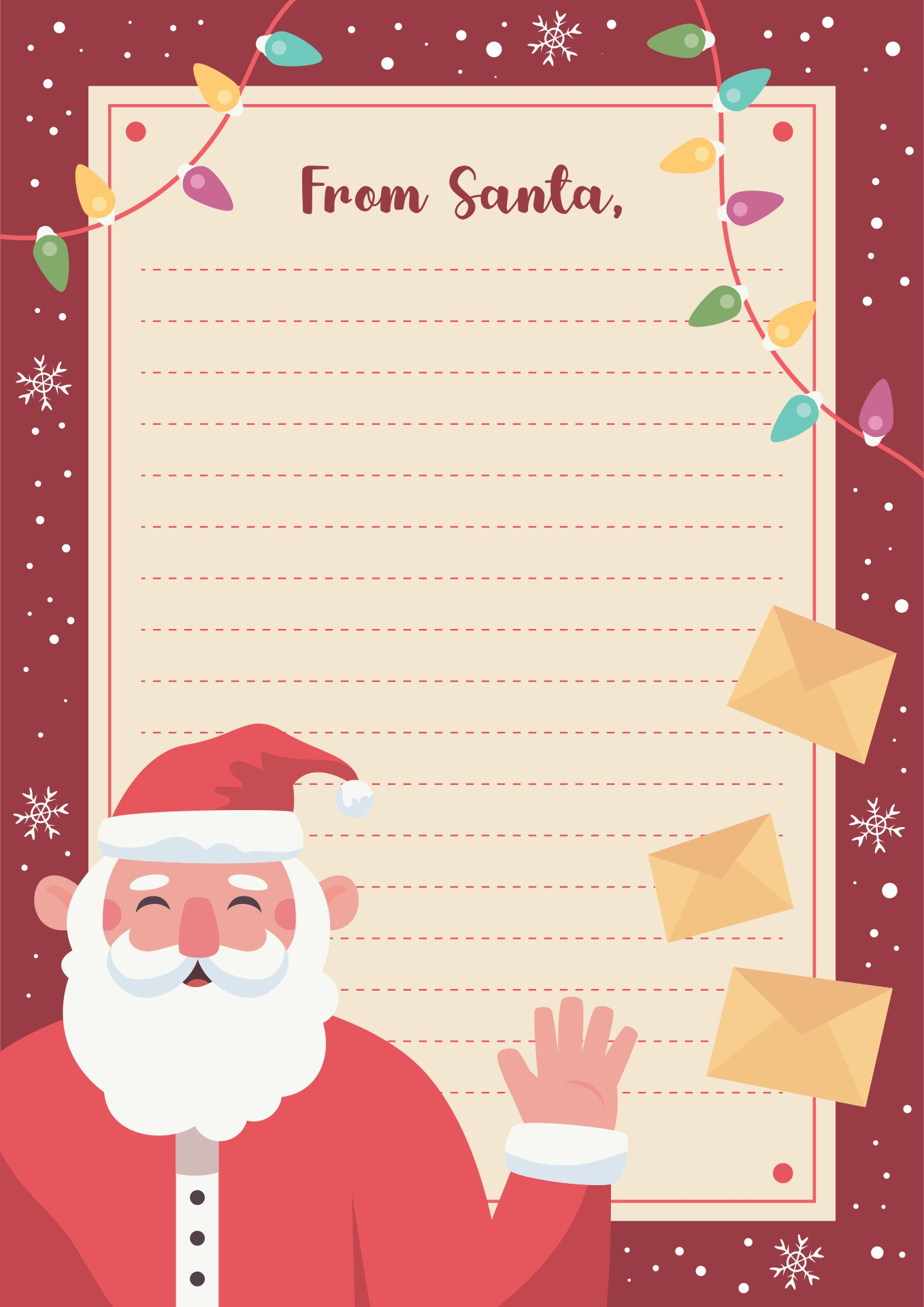 Printable Santa Letters Templates