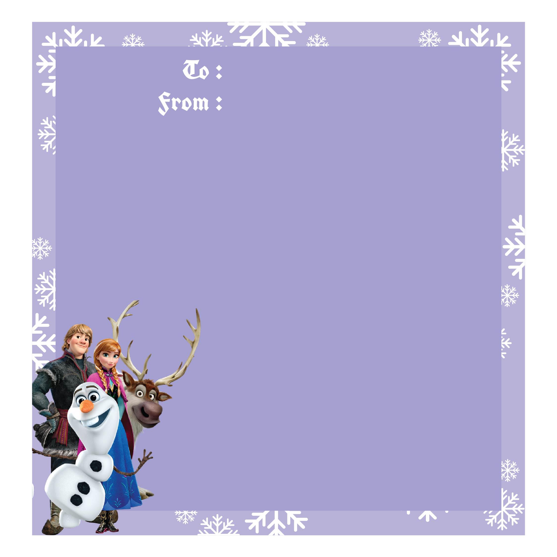 Disney Frozen Gift Tags Christmas Printable
