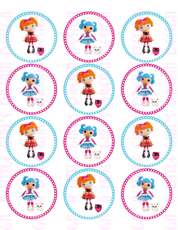 Printable Lalaloopsy Stickers