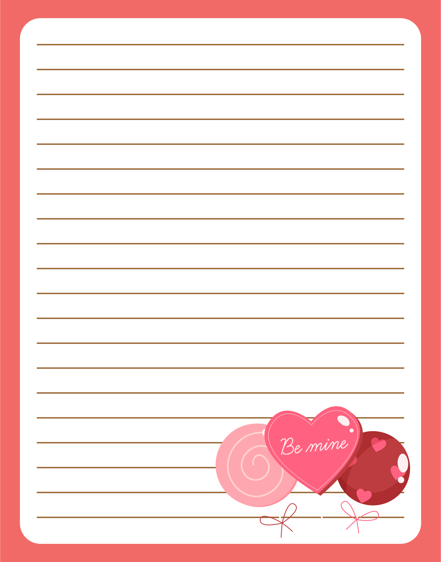 Cute Owls Love Letter Stationery Printable