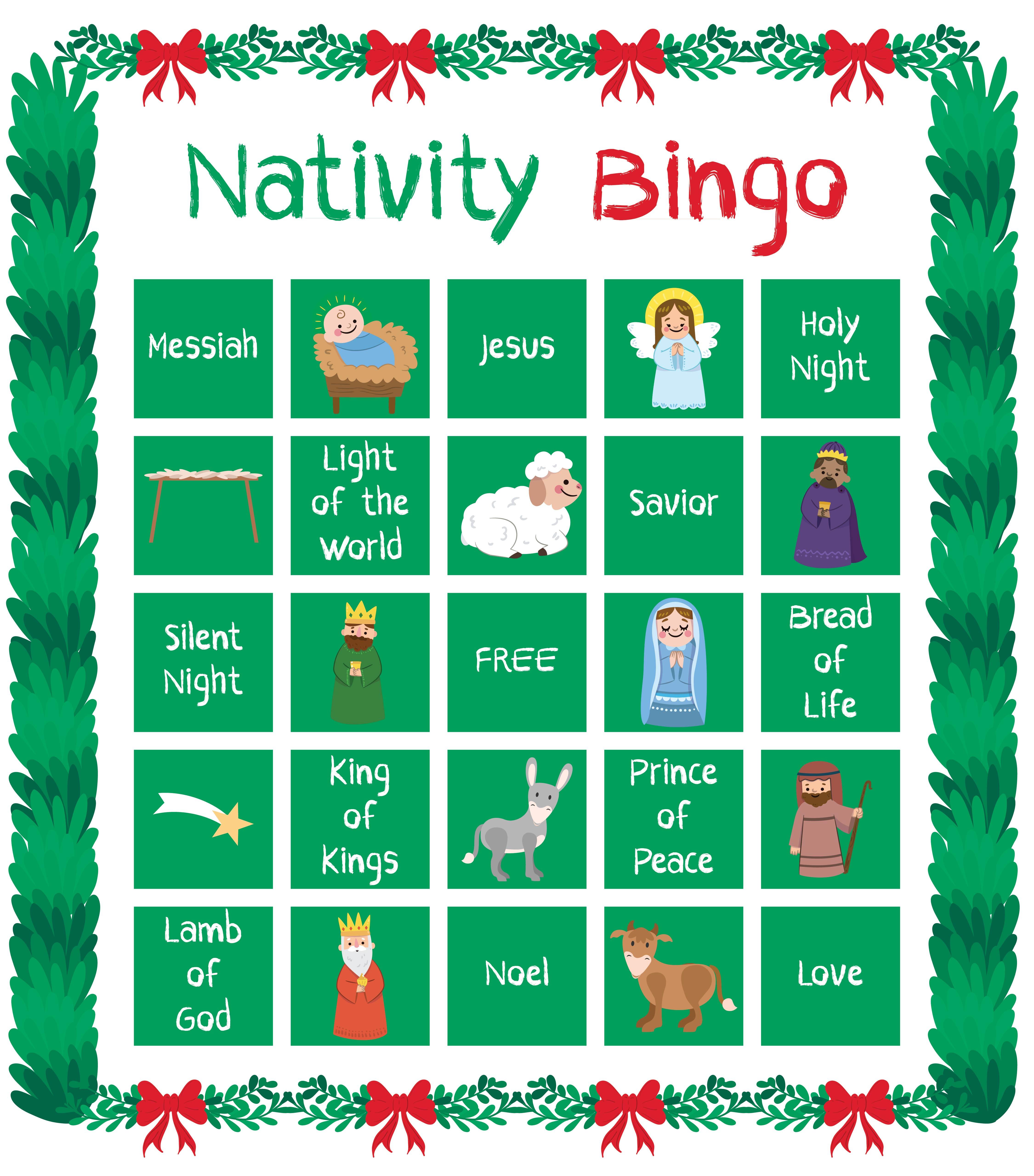 Nativity Printable Bingo Cards