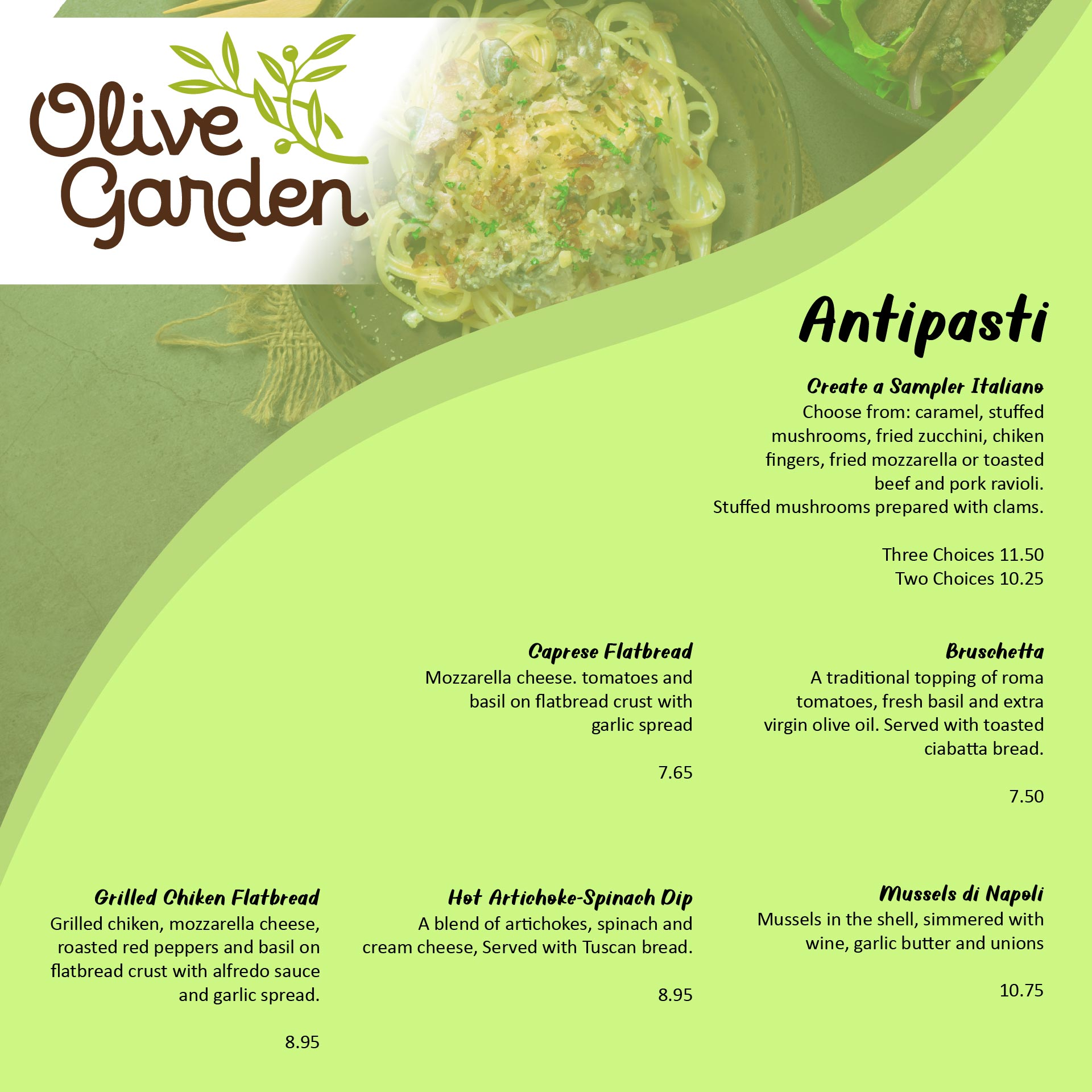 Olive Garden Menu Printable Out