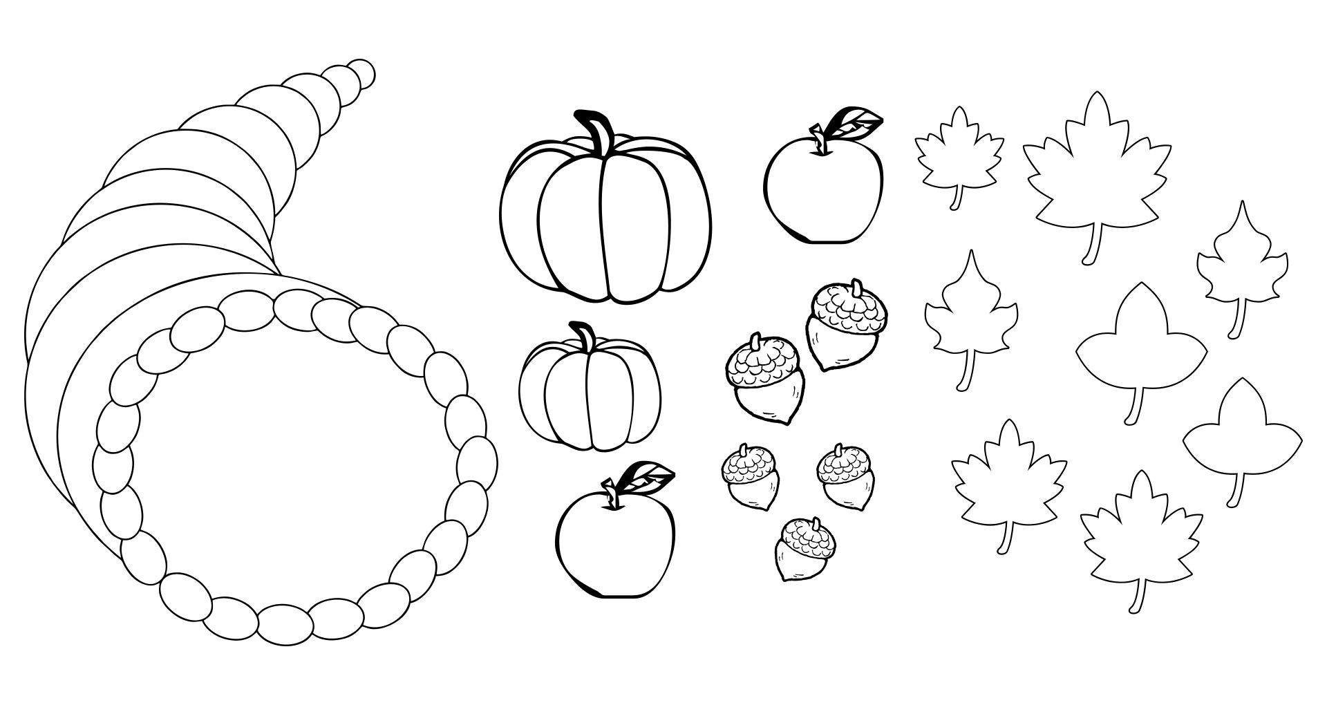 Printable Fruit And Vegetable Templates