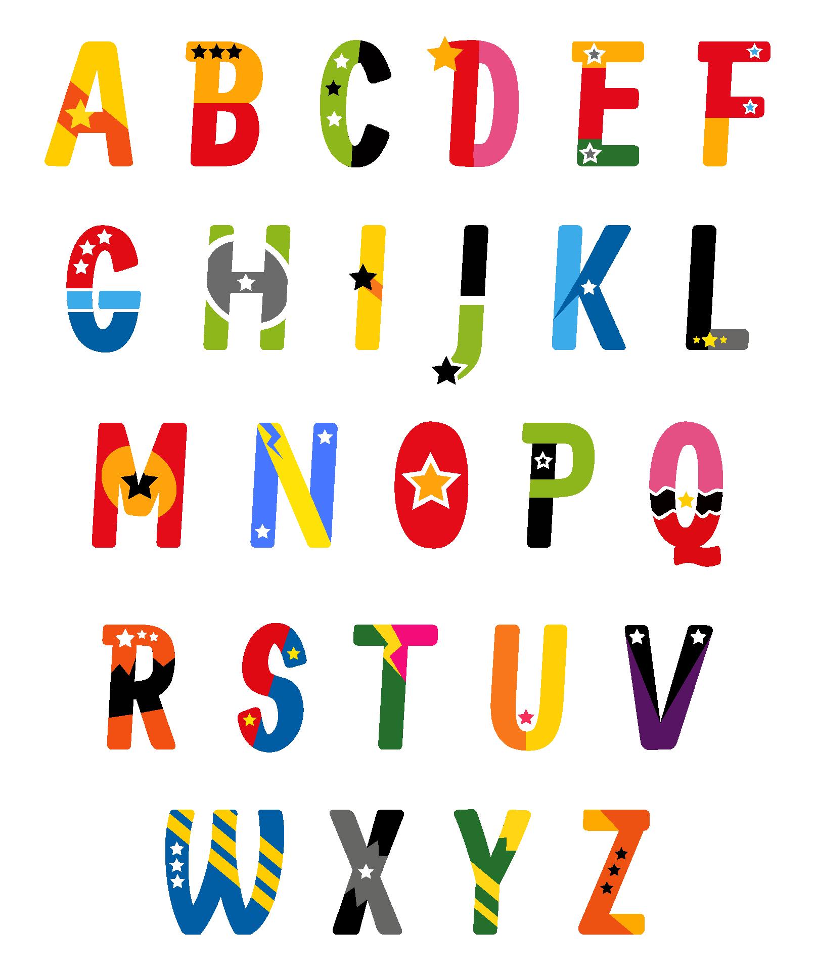 Printable Superhero Letters