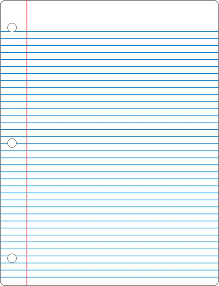 Printable Lined Paper College Ruled Notebook