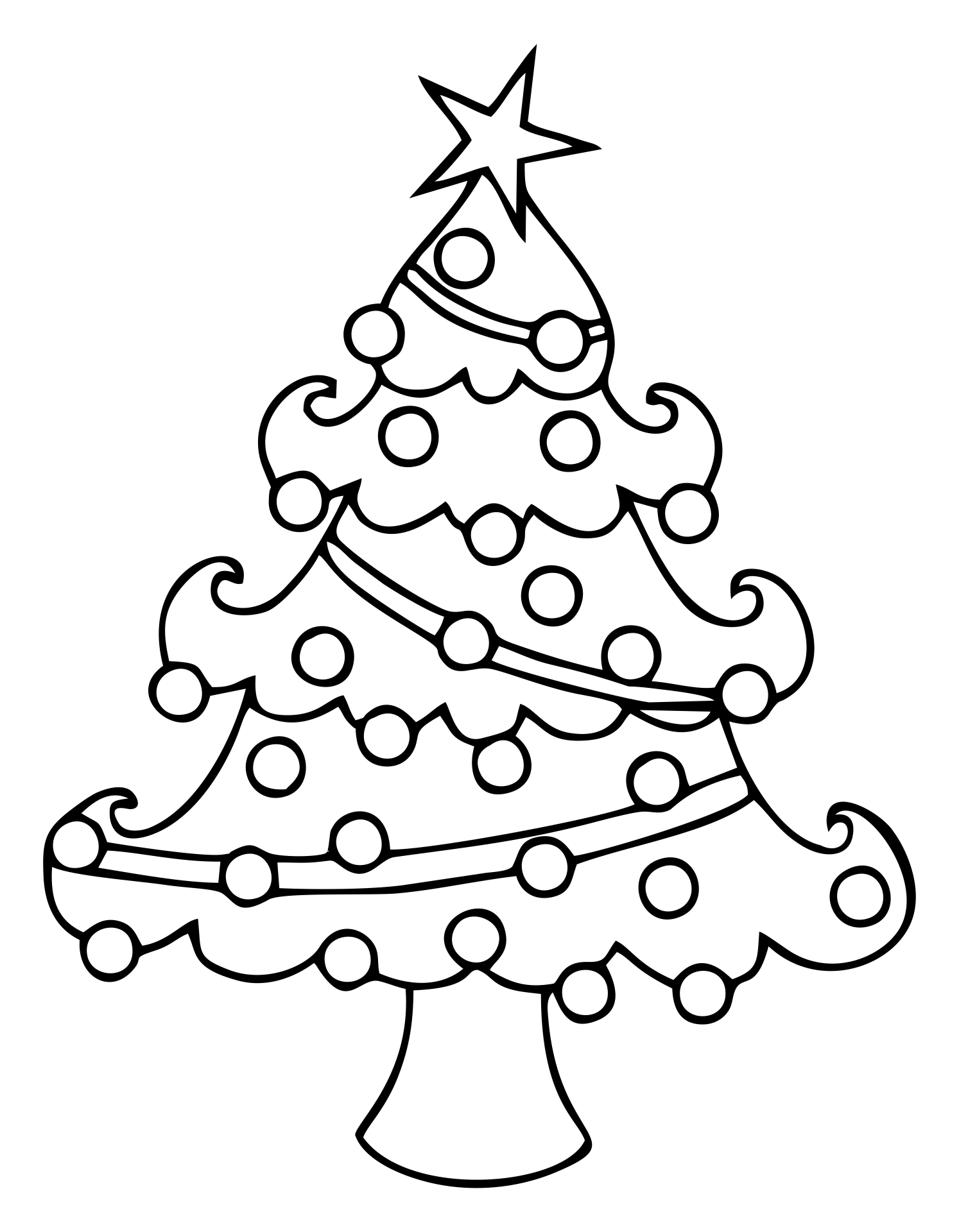 Printable Christmas Tree Clip Art