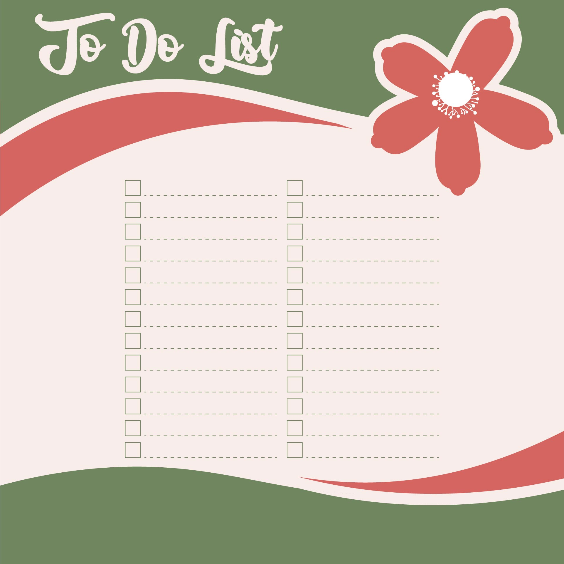 Cute To Do List Printable Template