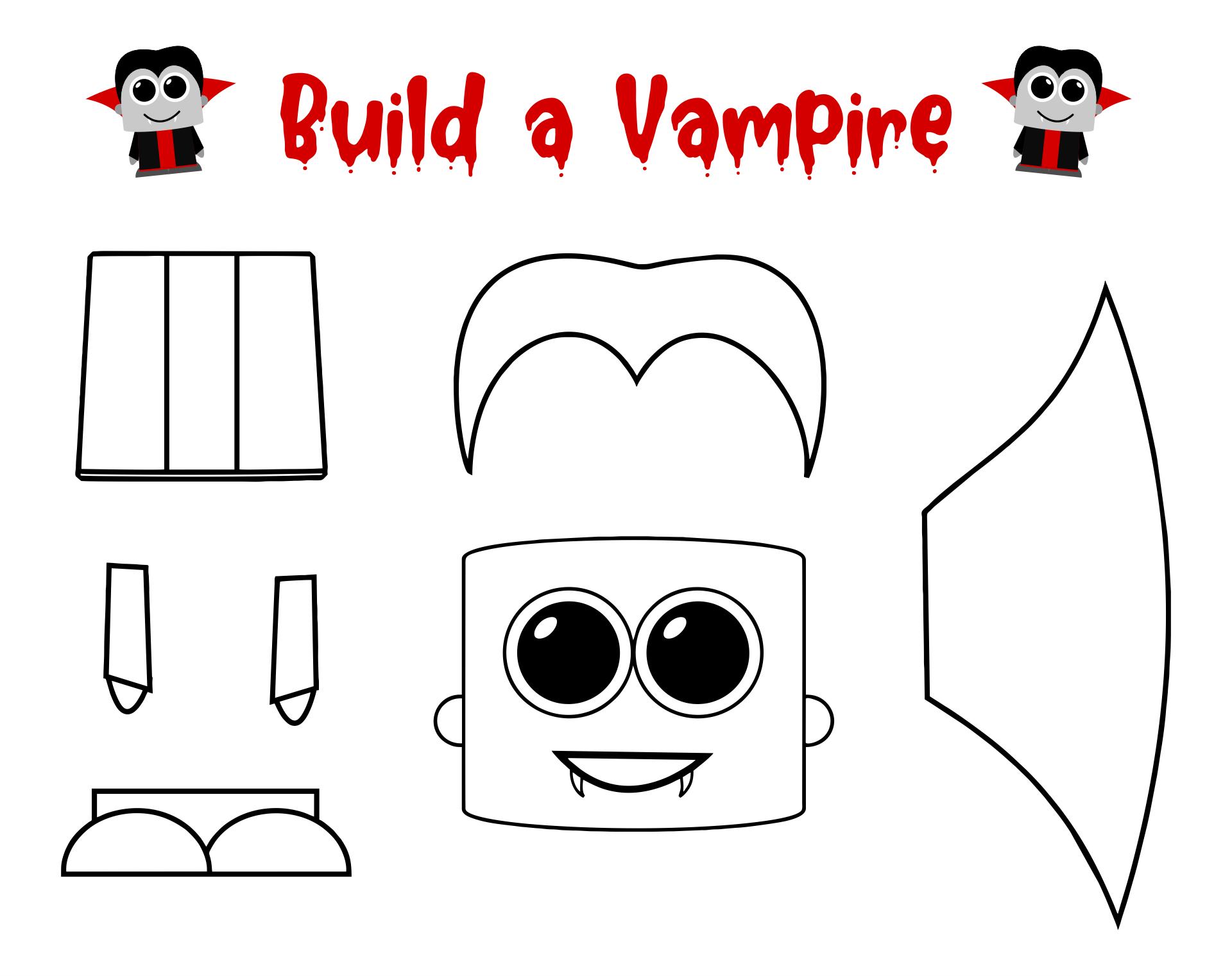 Printable Halloween Crafts For Preschoolers