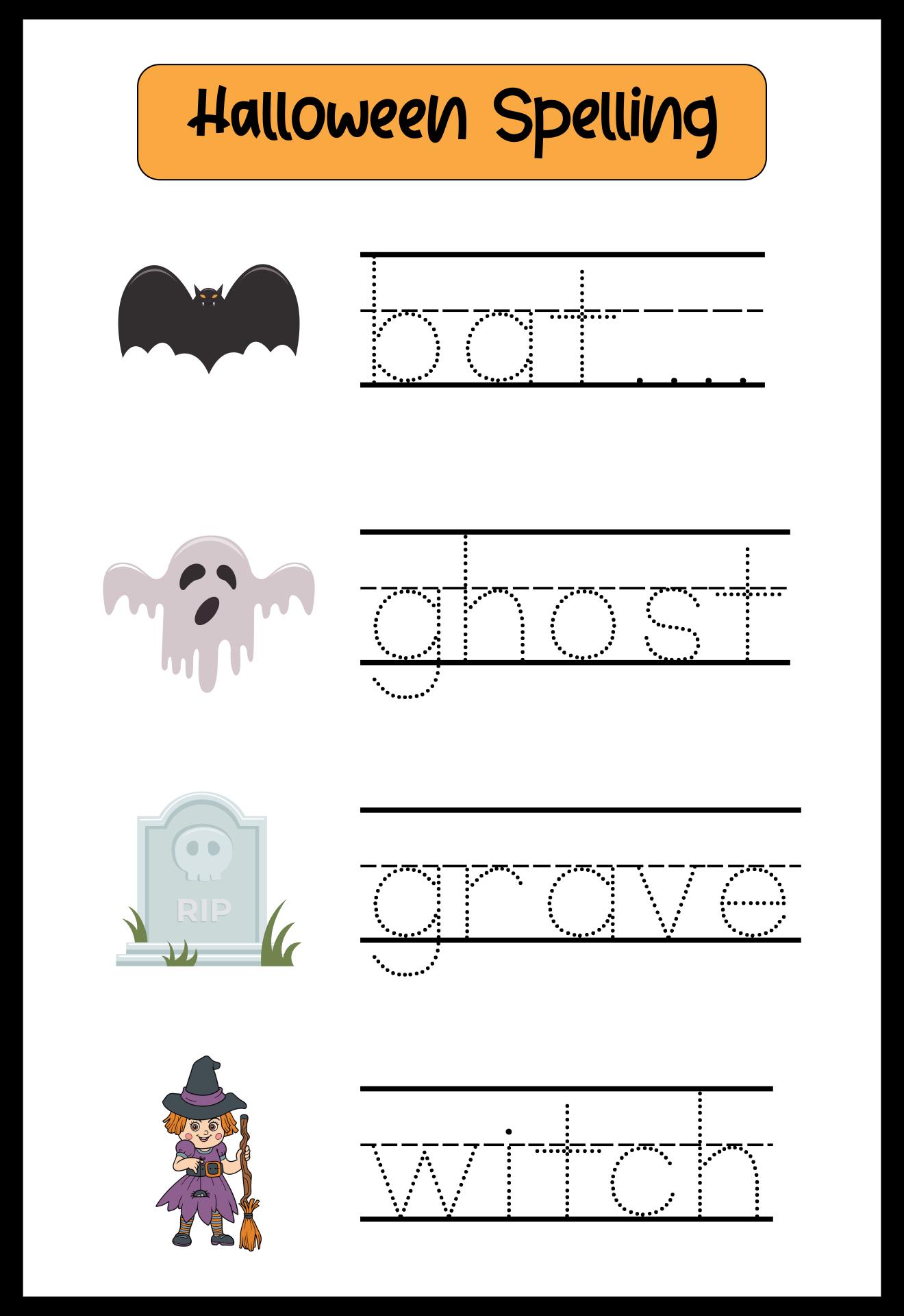 Halloween Pre-K Printables