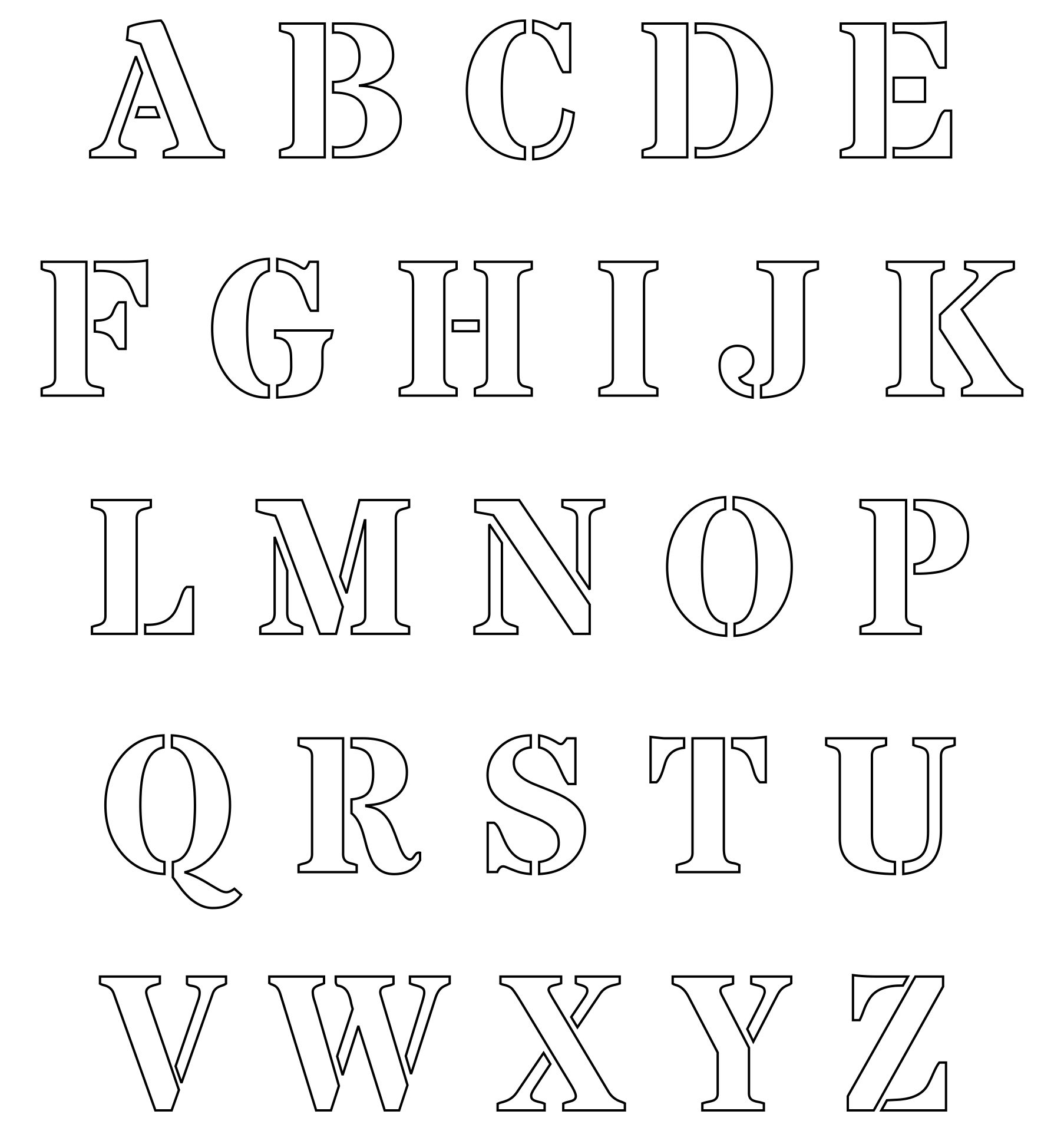 Printable Cut Out Letters