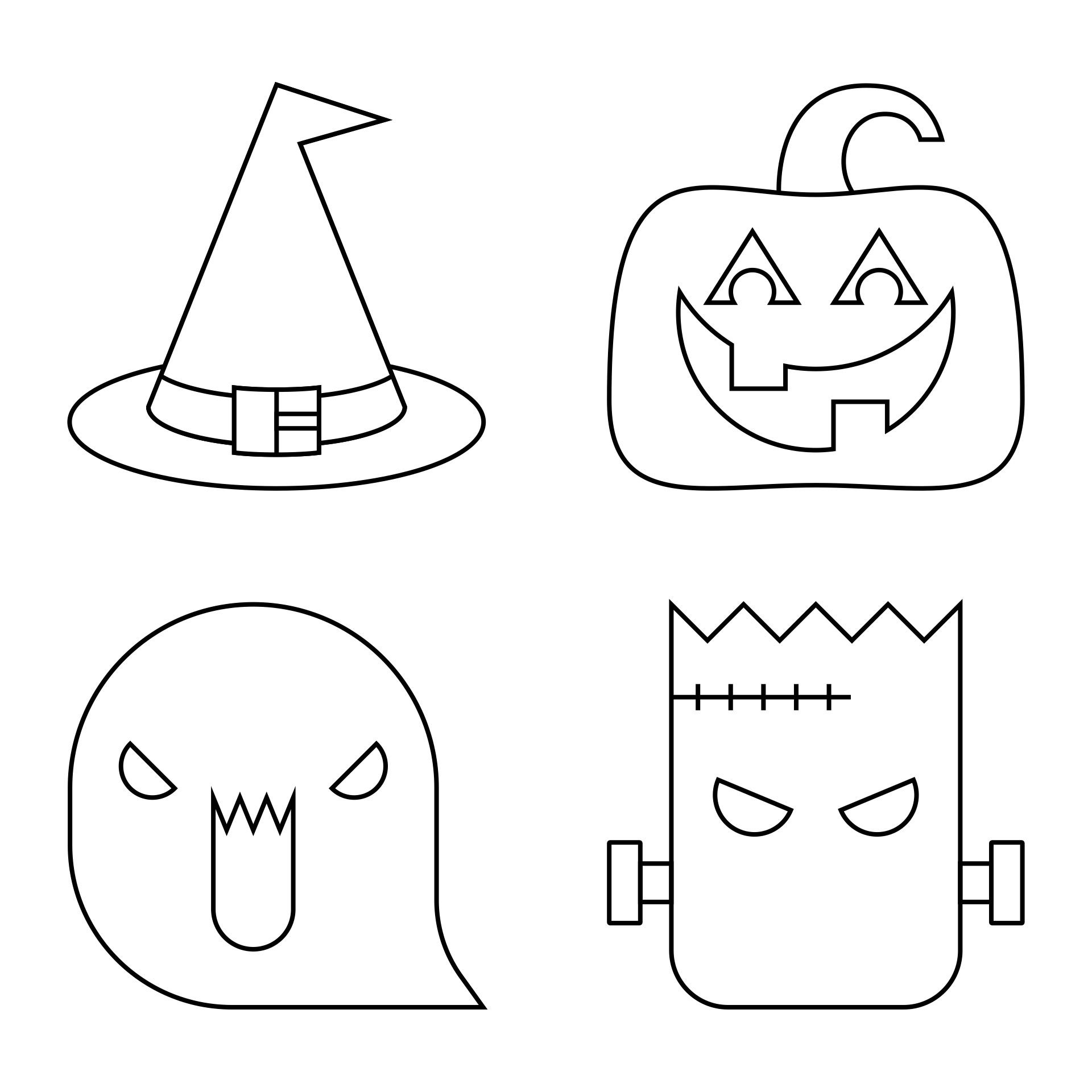 Printable Halloween Stencils