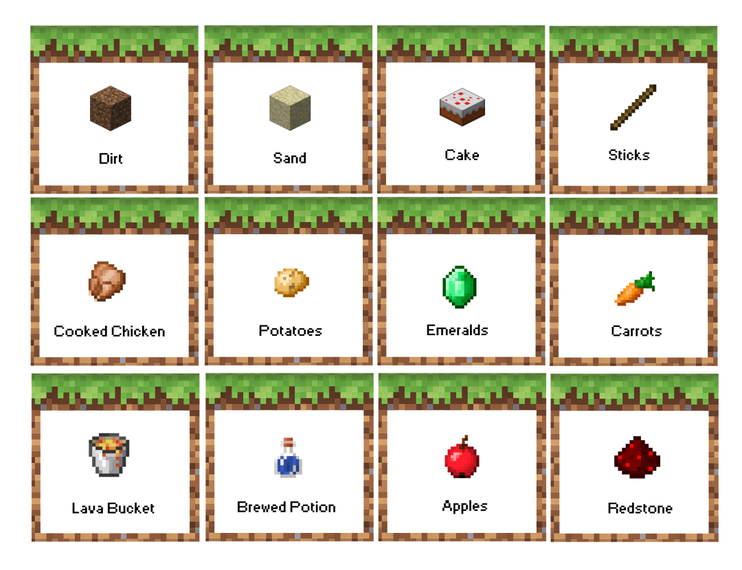 Sticks Minecraft Party Printables