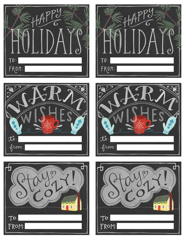 Christmas Printable Chalkboard Gift Tags