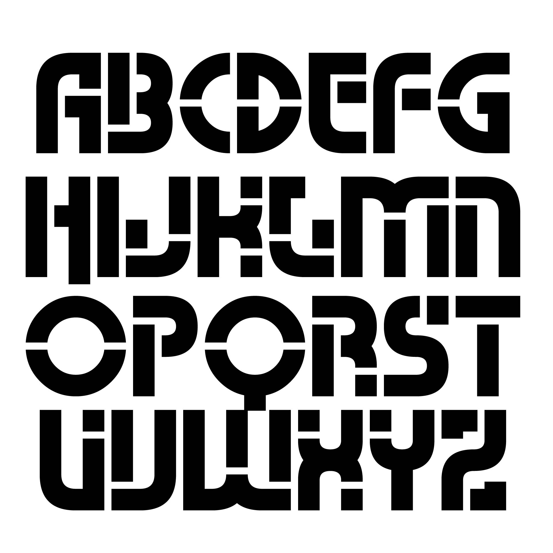 Printable Block Letters Small Medium