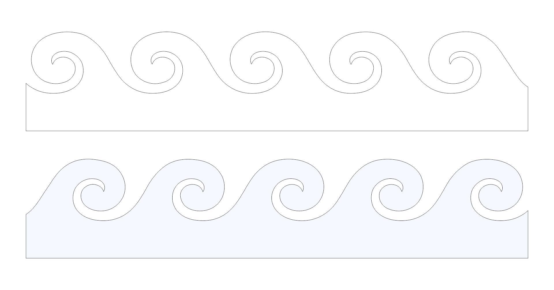 Printable Wave Stencil