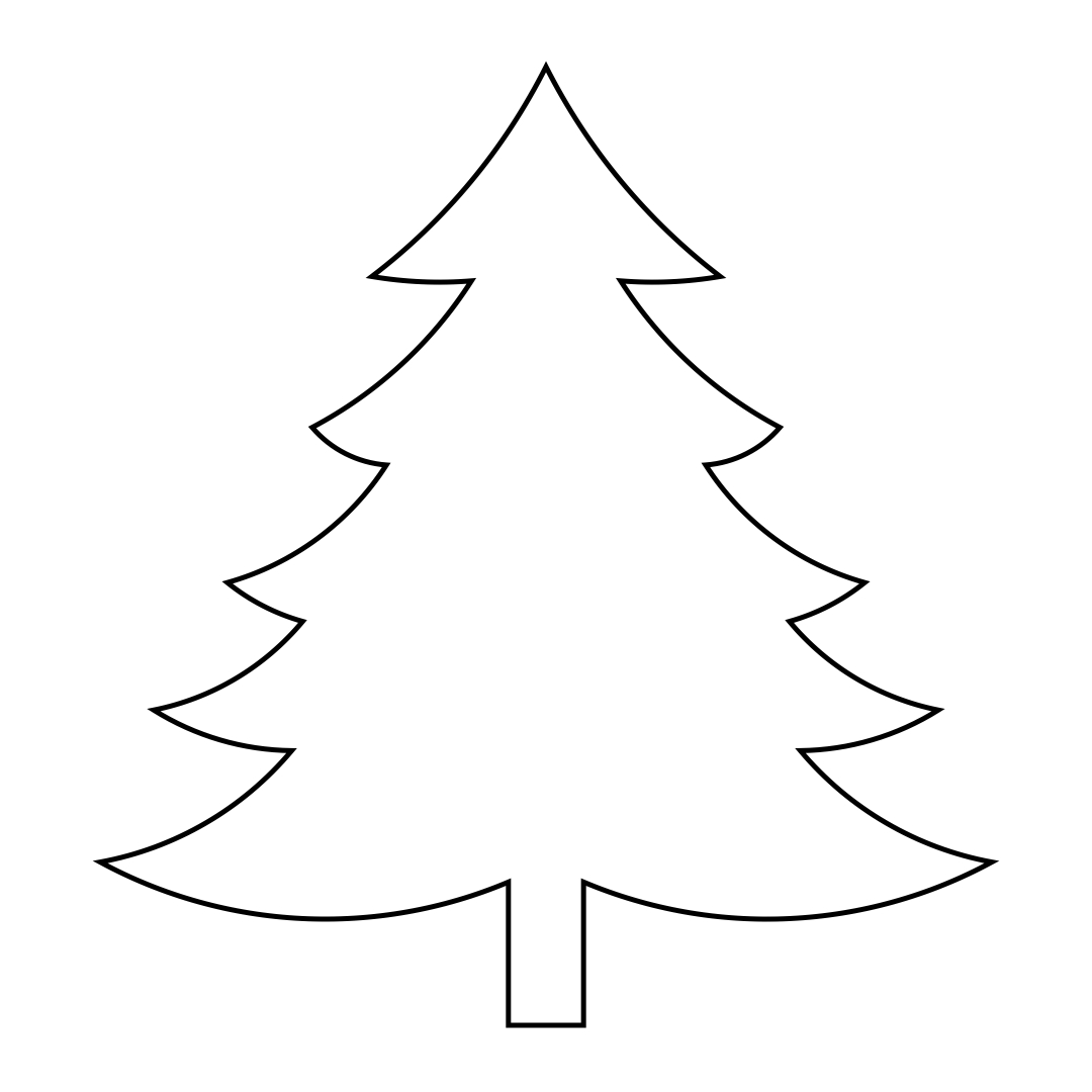 Large Printable Christmas Tree Patterns