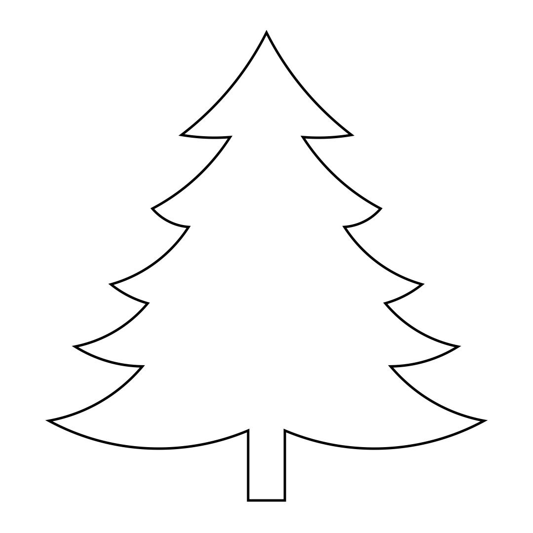 Large Printable Christmas Tree Patterns