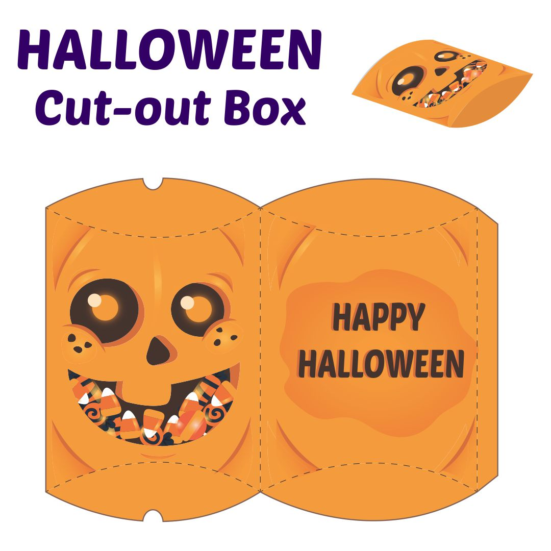 Halloween Printable Cupcake Boxes