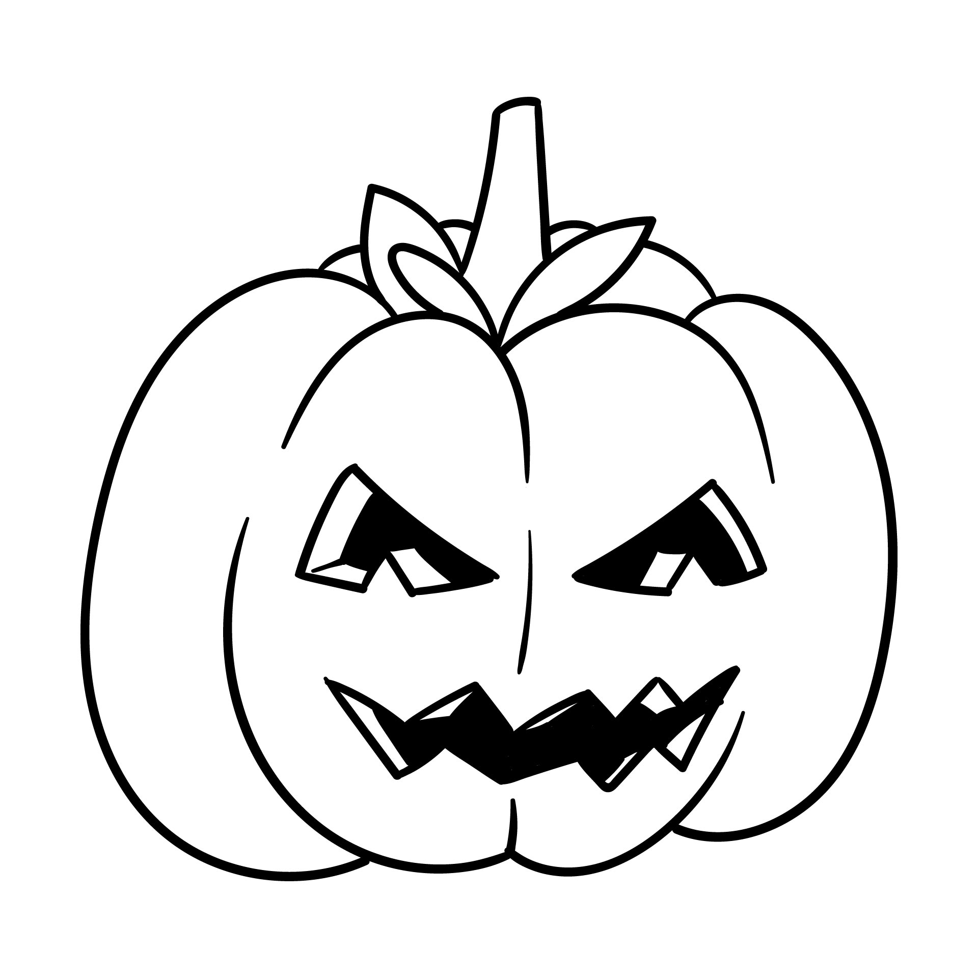Printable Coloring Pages Pumpkin Halloween