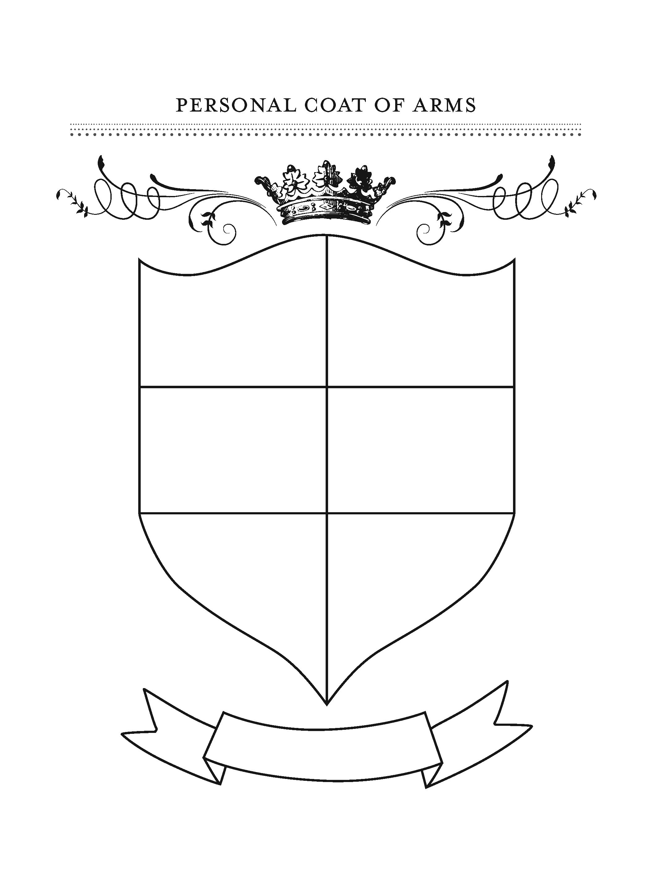 Printable Family Crest Shield