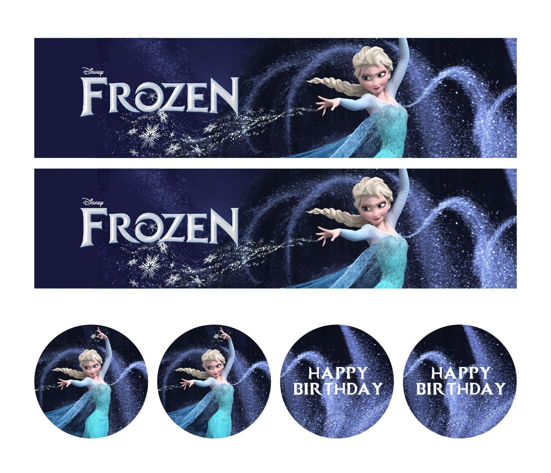 Frozen Printable Water Labels