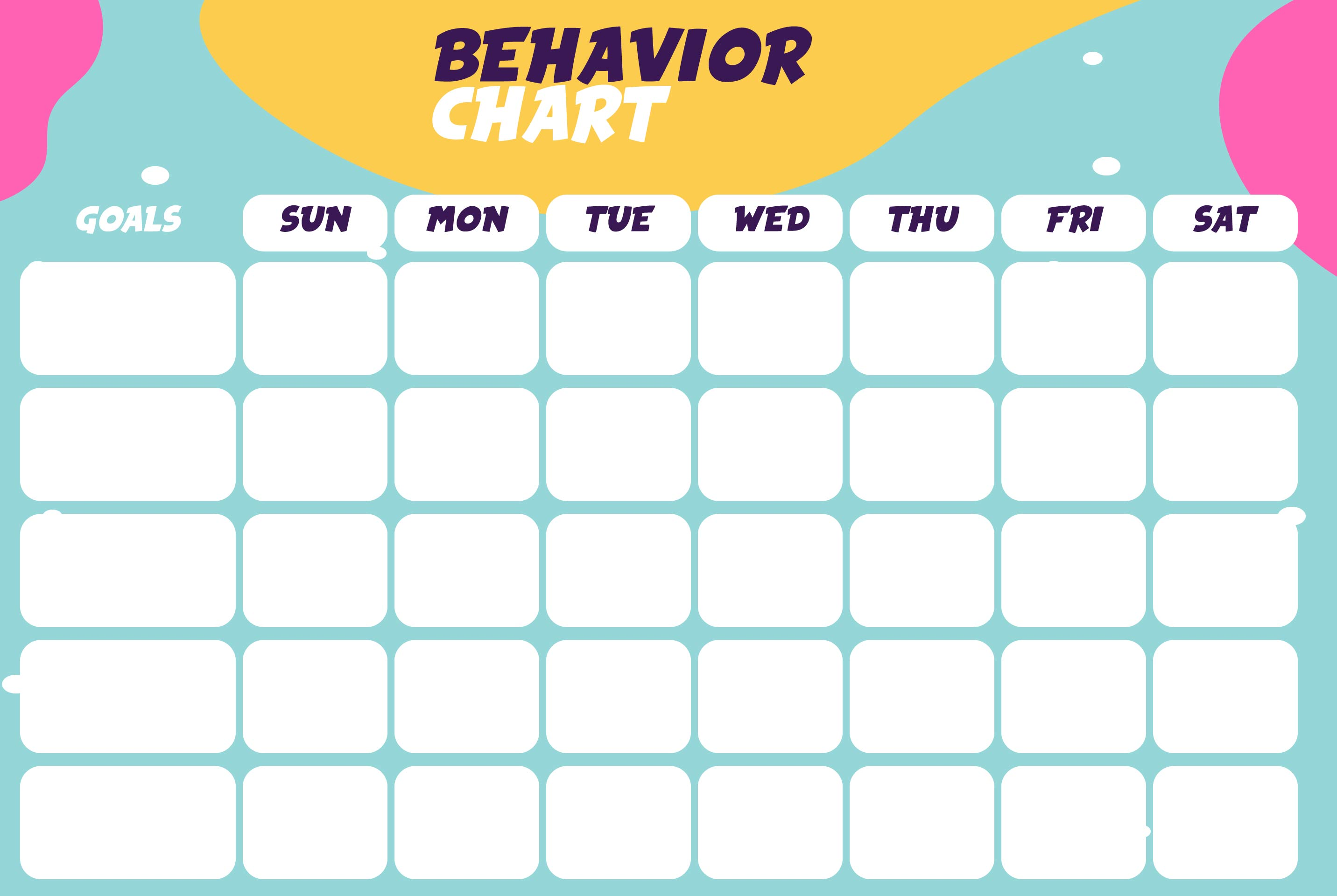 Printable Behavior Charts For Home