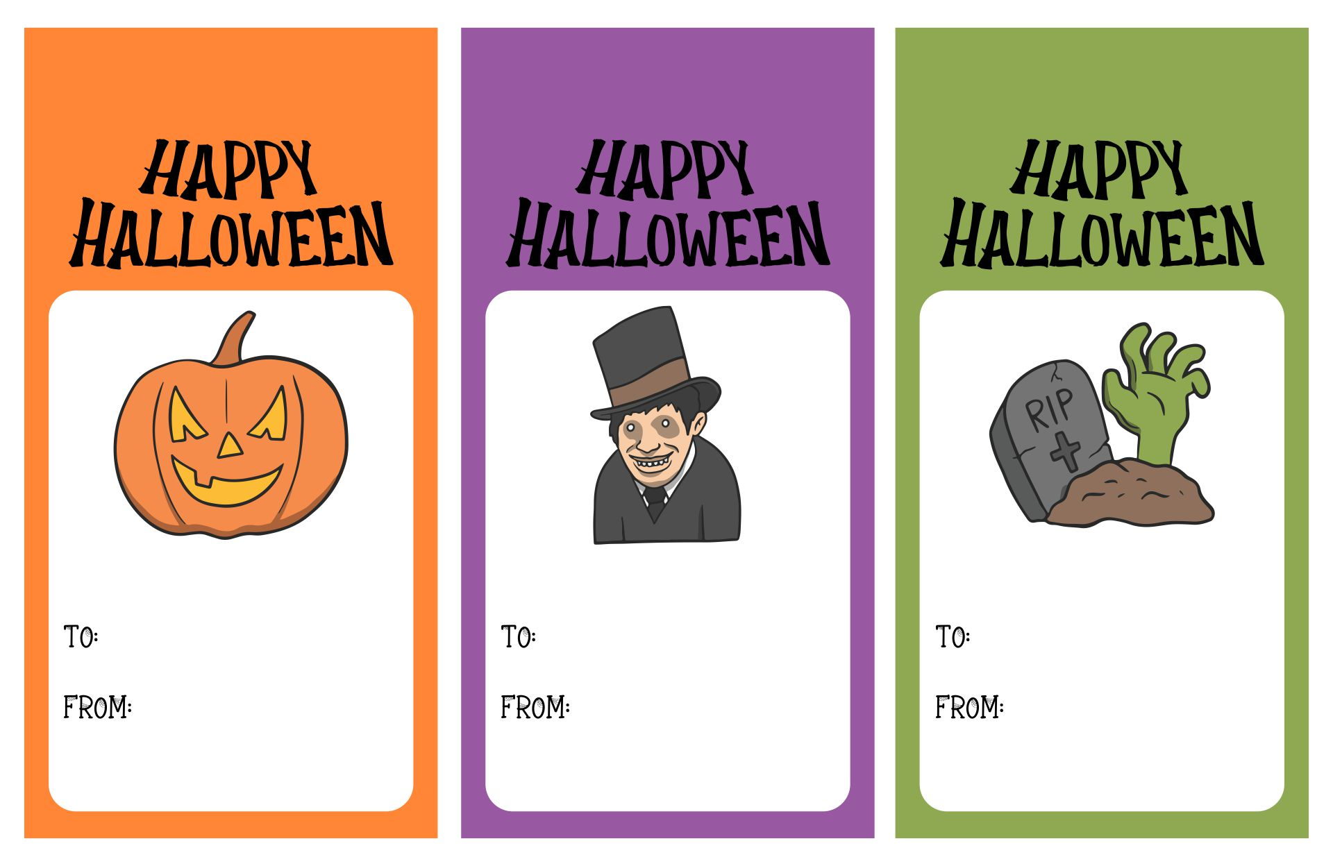 Happy Halloween Printable Tags